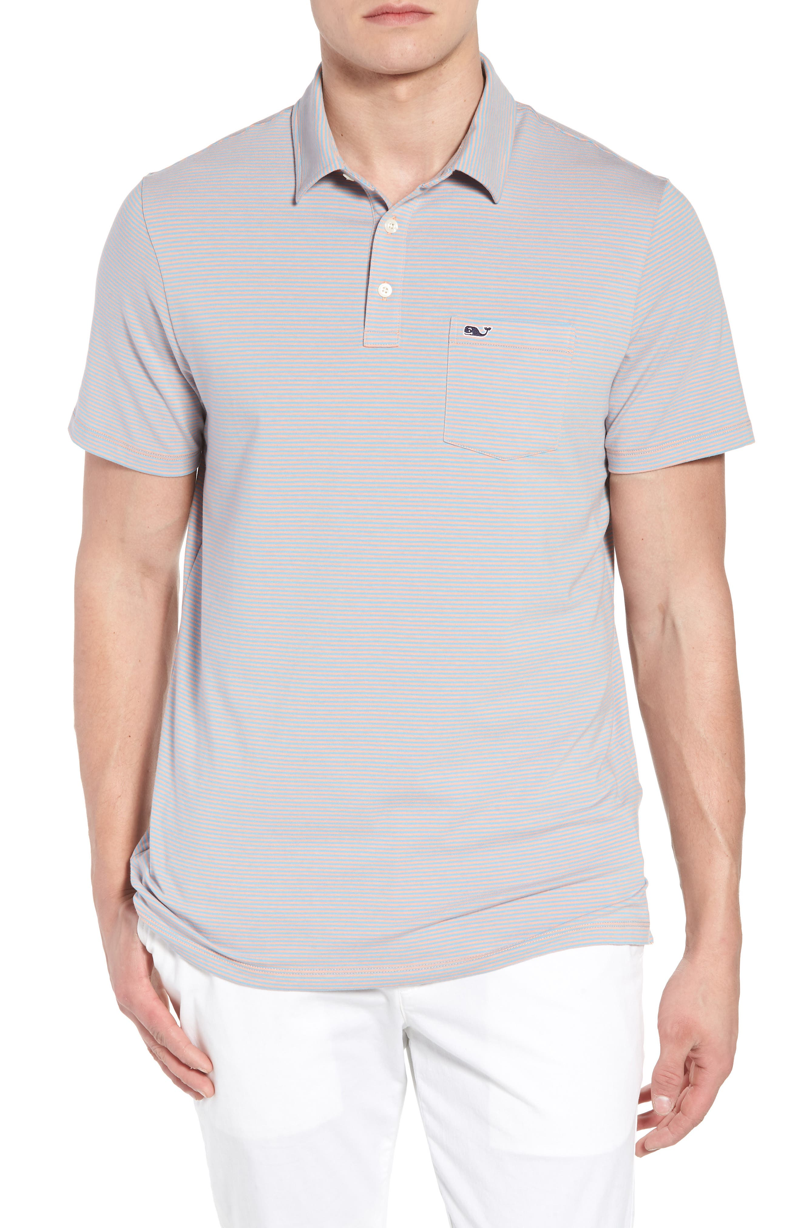vineyard vines Edgartown Stripe Stretch Polo