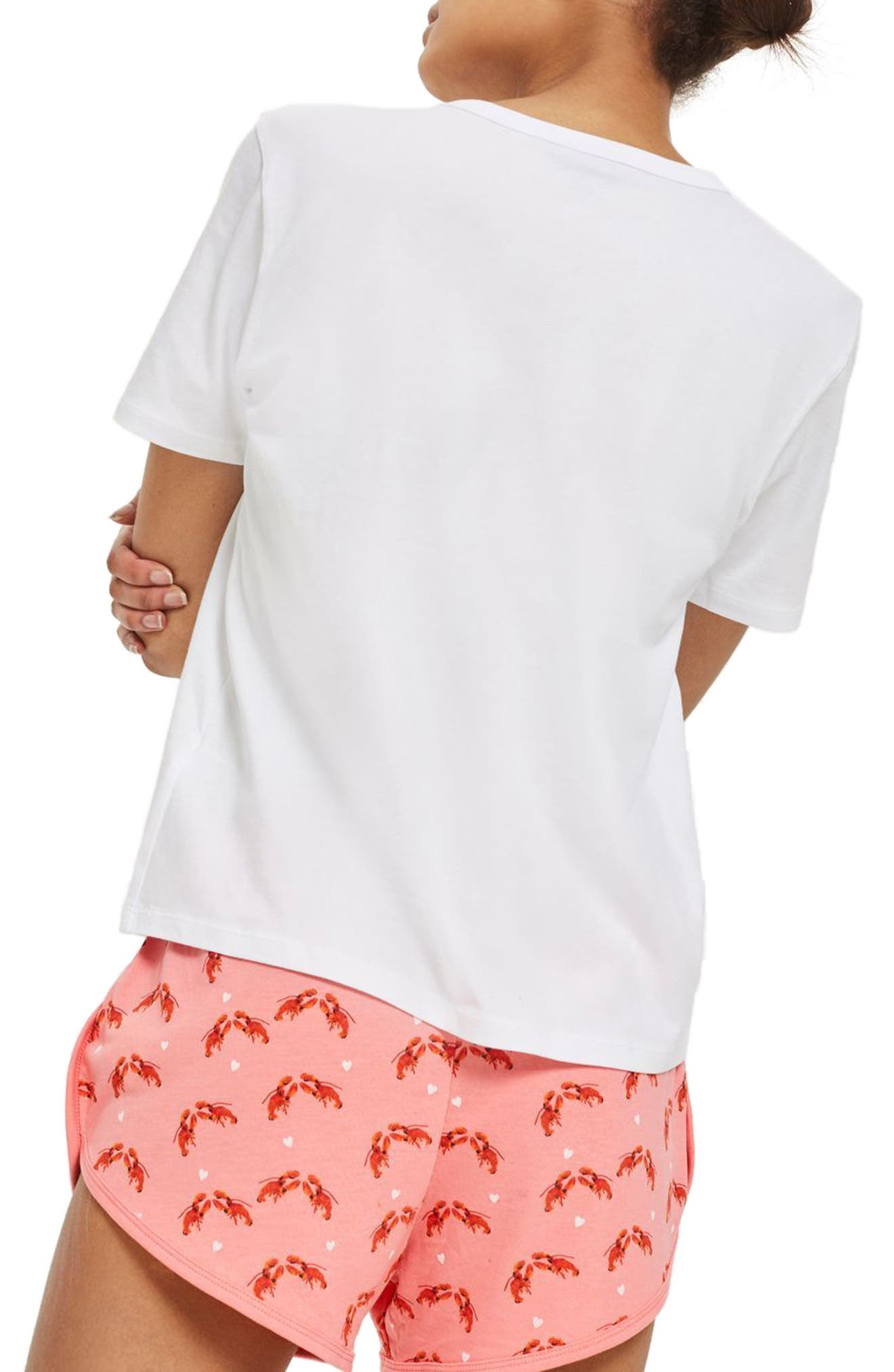 You're My Lobster Short Pajamas,                             Alternate thumbnail 2, color,                             Pink Multi