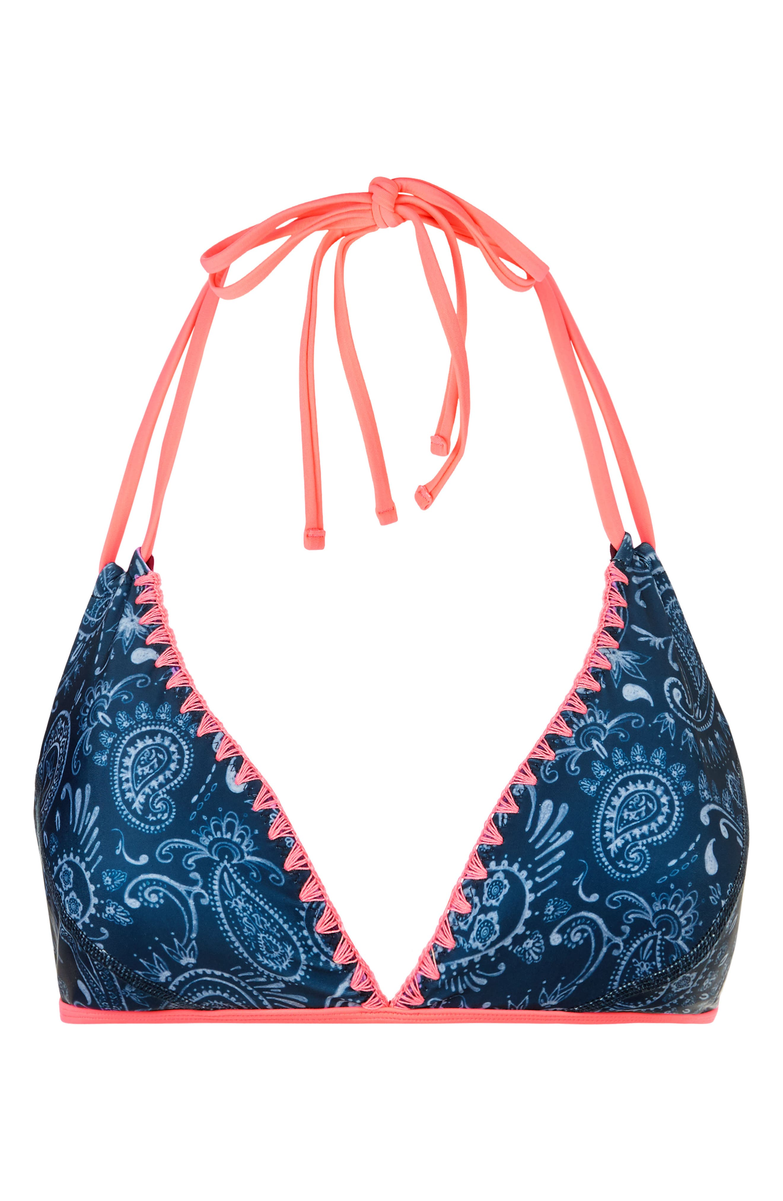 Purity Reversible Bikini Top,                             Alternate thumbnail 6, color,                             Printed/ Oxblood