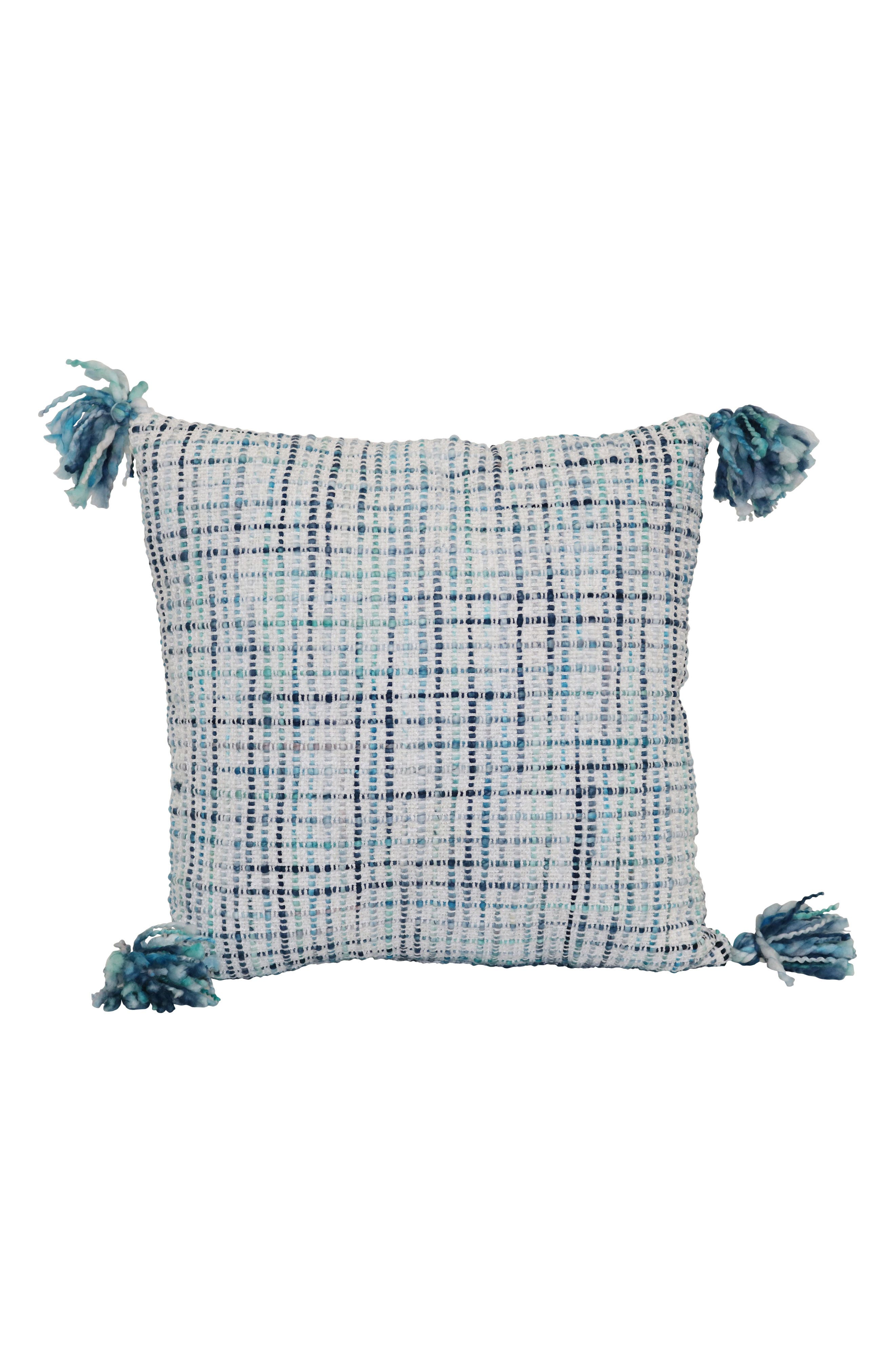 Tassel Accent Pillow,                         Main,                         color, Cool