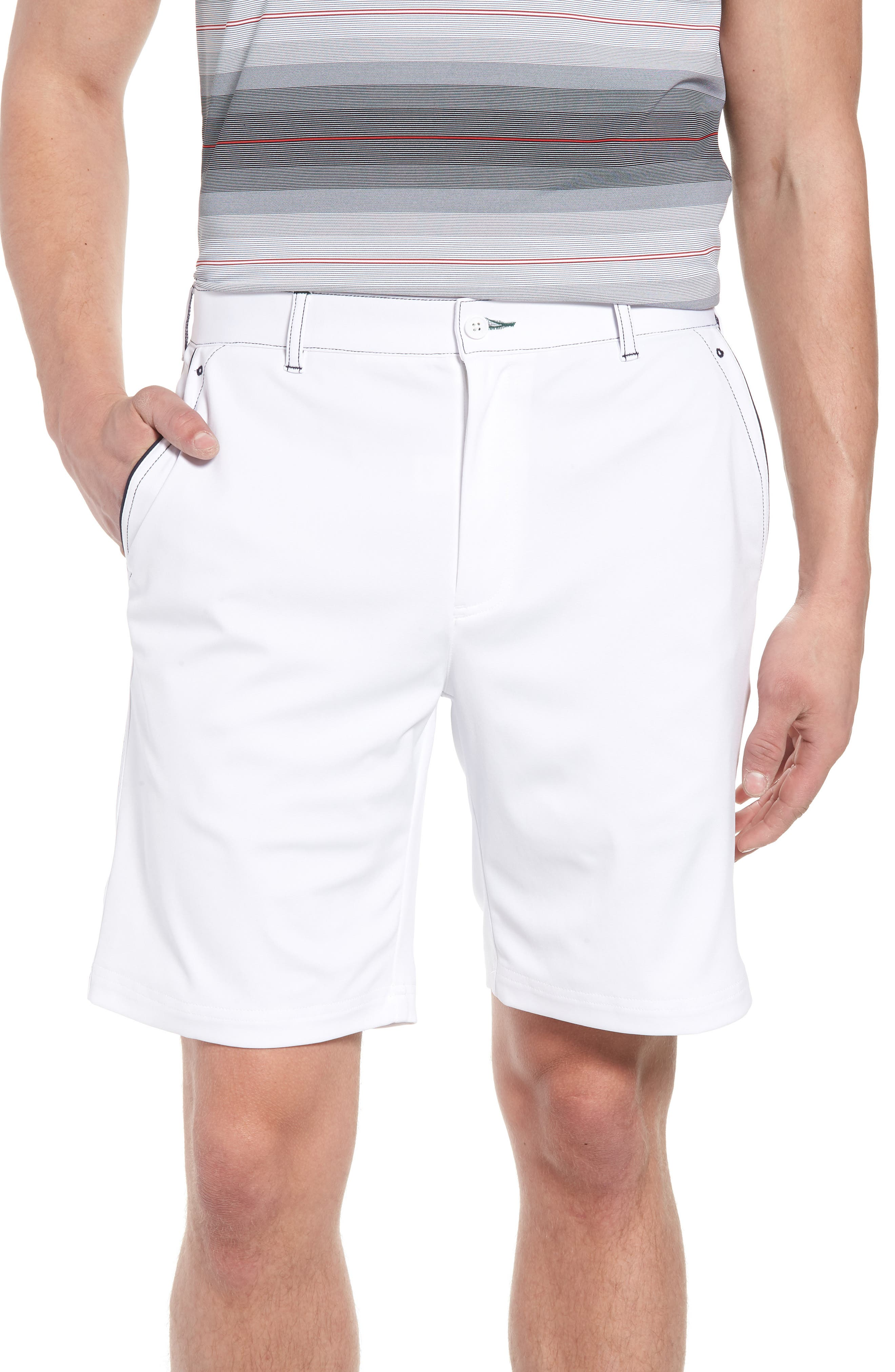Trim Fit Tech Chino Shorts,                         Main,                         color, White