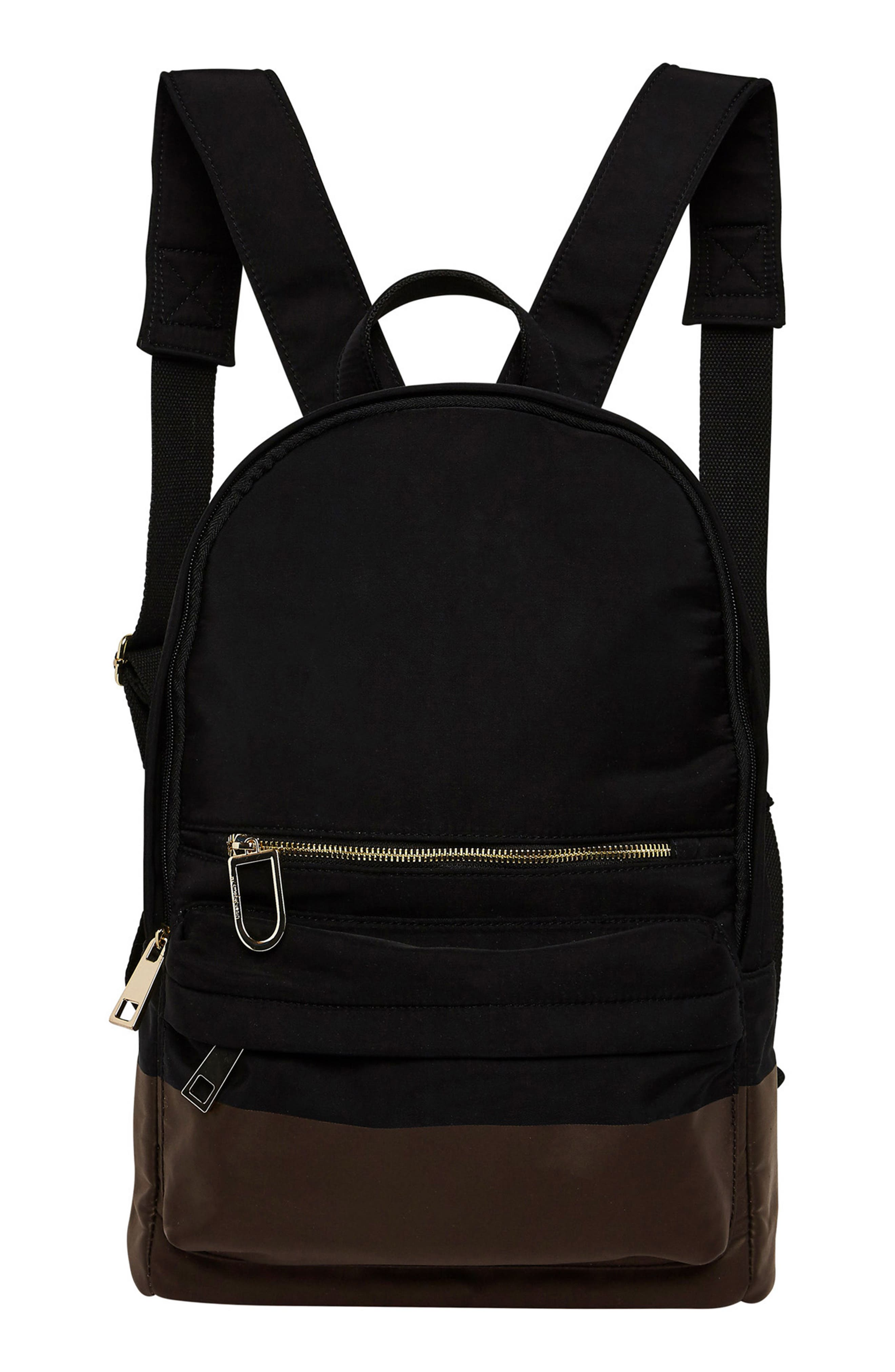 Own Beat Vegan Leather Backpack,                             Main thumbnail 1, color,                             Black