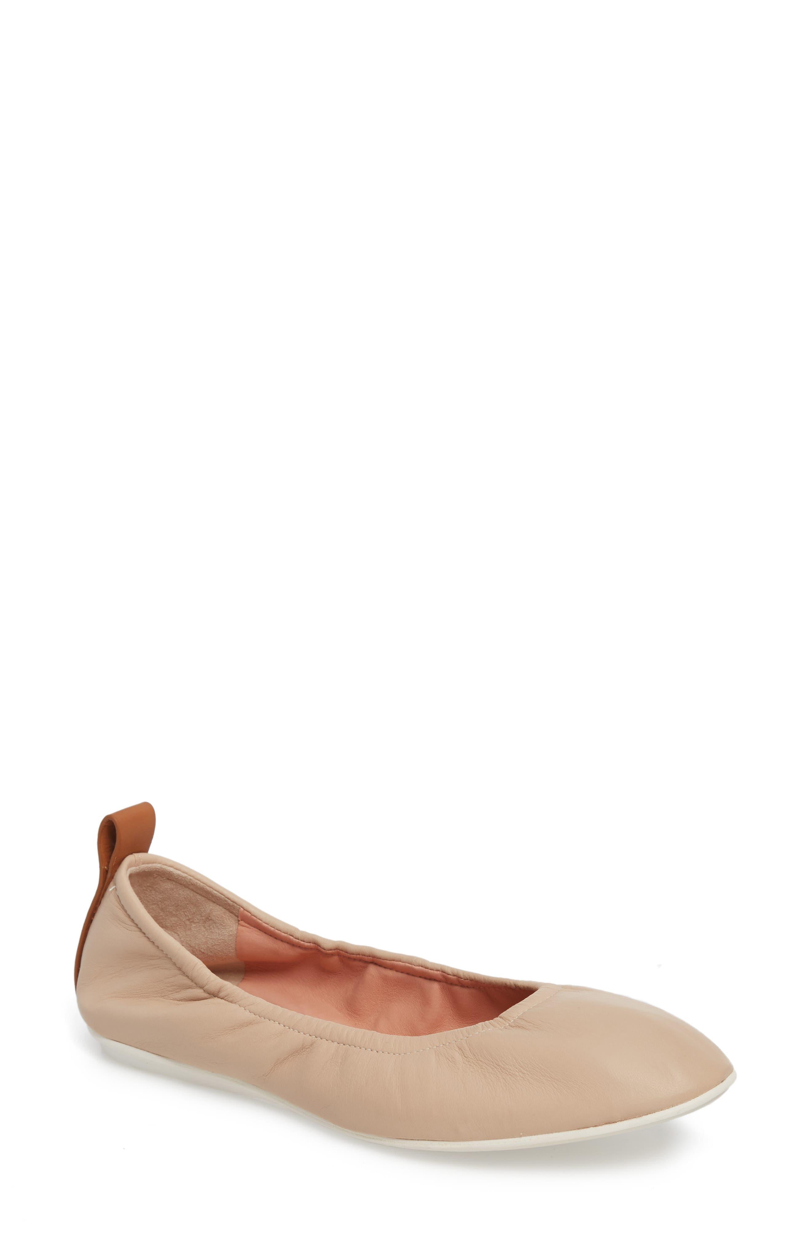 Carola Ballet Flat,                         Main,                         color, Nude