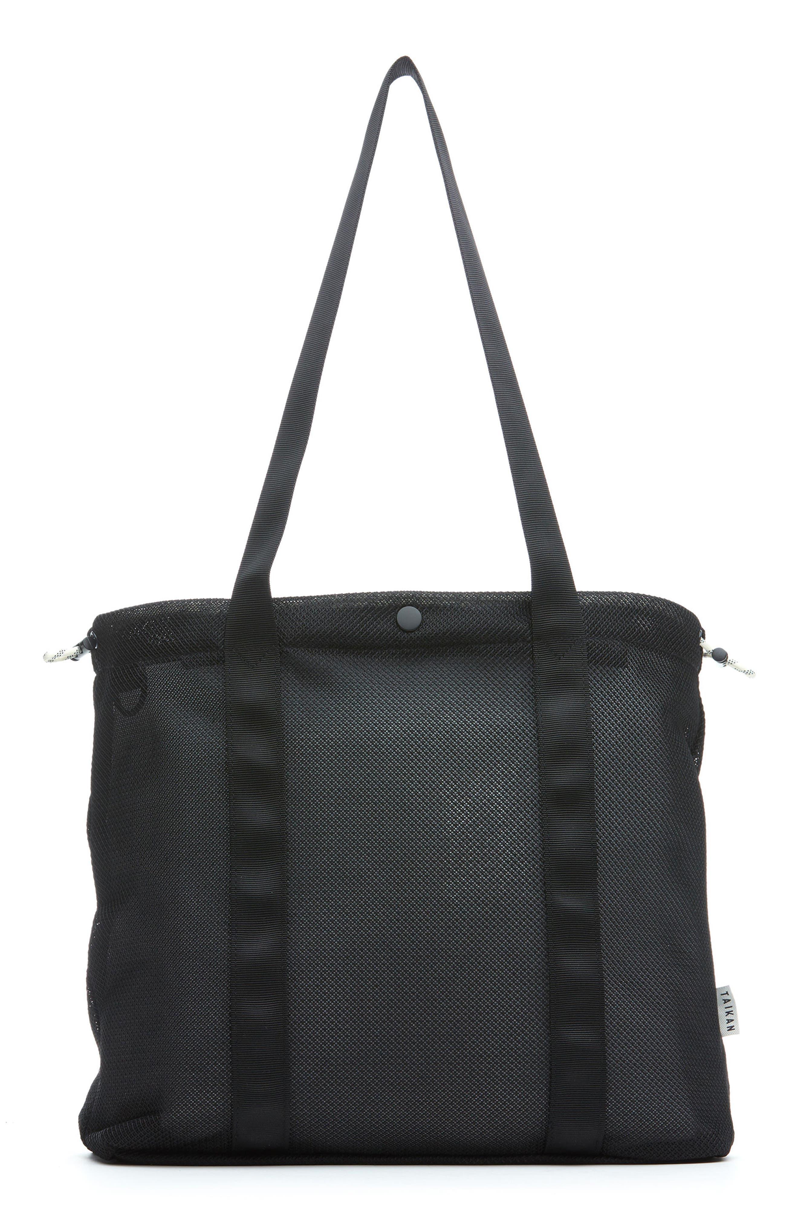 Flanker Mesh Tote Bag,                             Main thumbnail 1, color,                             Black Mesh