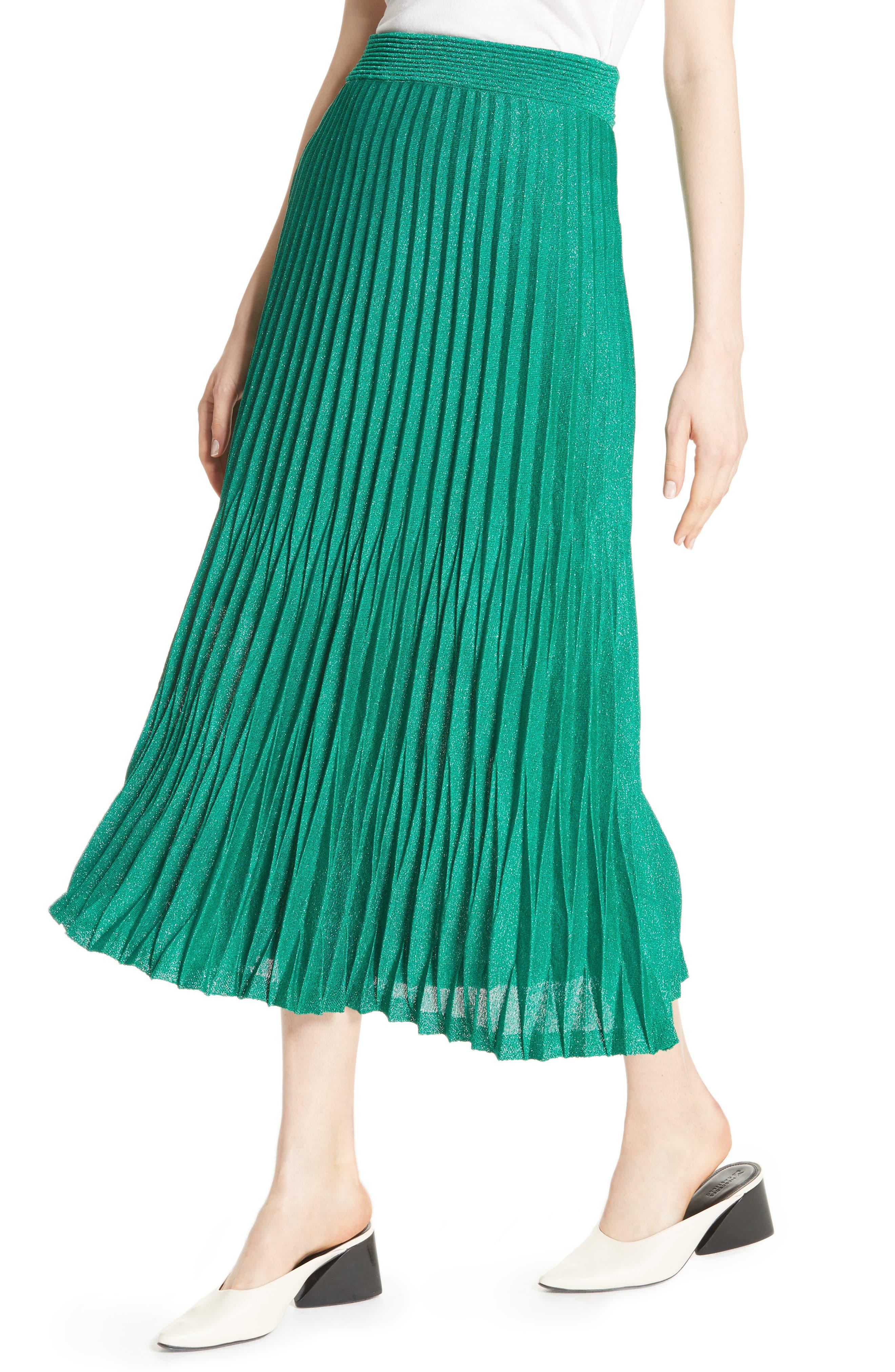 Alternate Image 3  - maje Jupette Pleated Midi Skirt