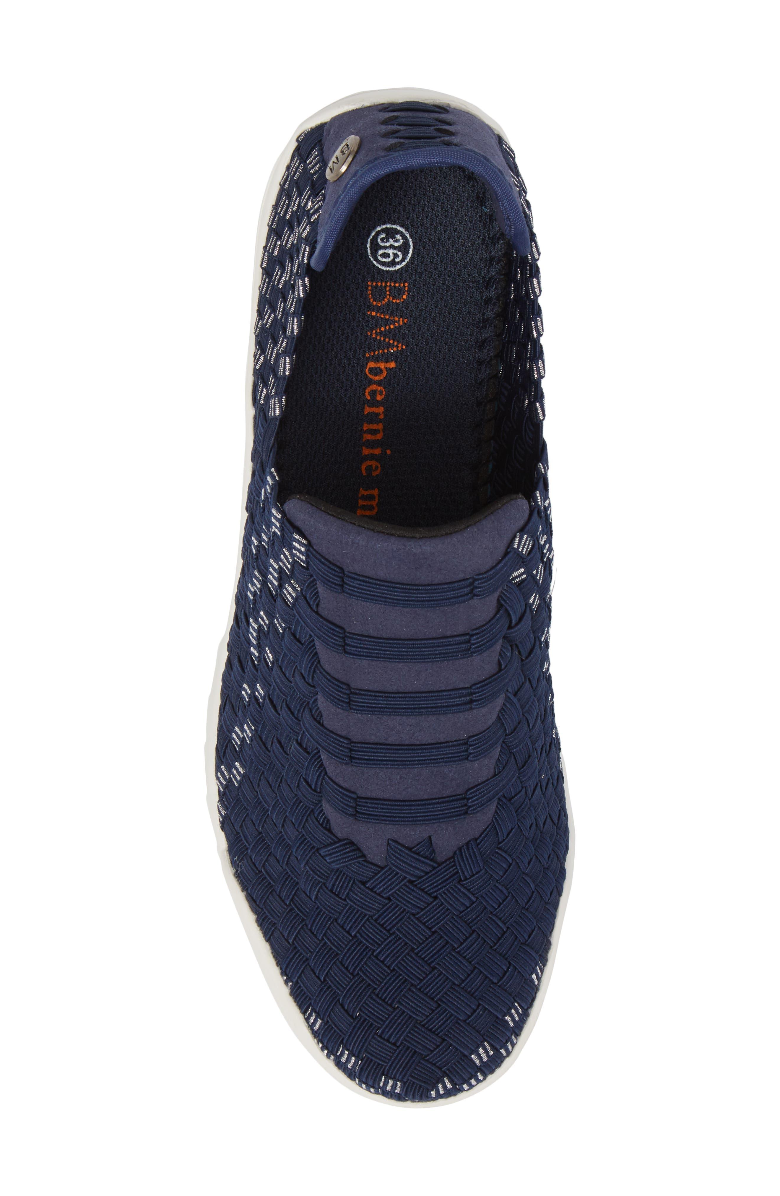 Rigged Vivaldi Slip-On Sneaker,                             Alternate thumbnail 5, color,                             Navy Lurex