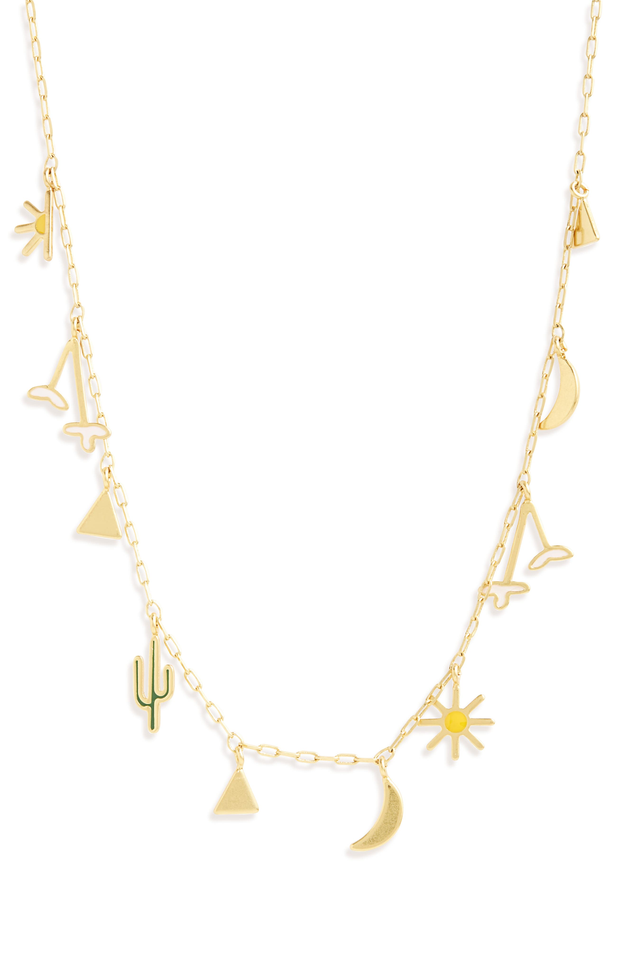 Primal Charm Necklace,                             Main thumbnail 1, color,                             Vintage Gold