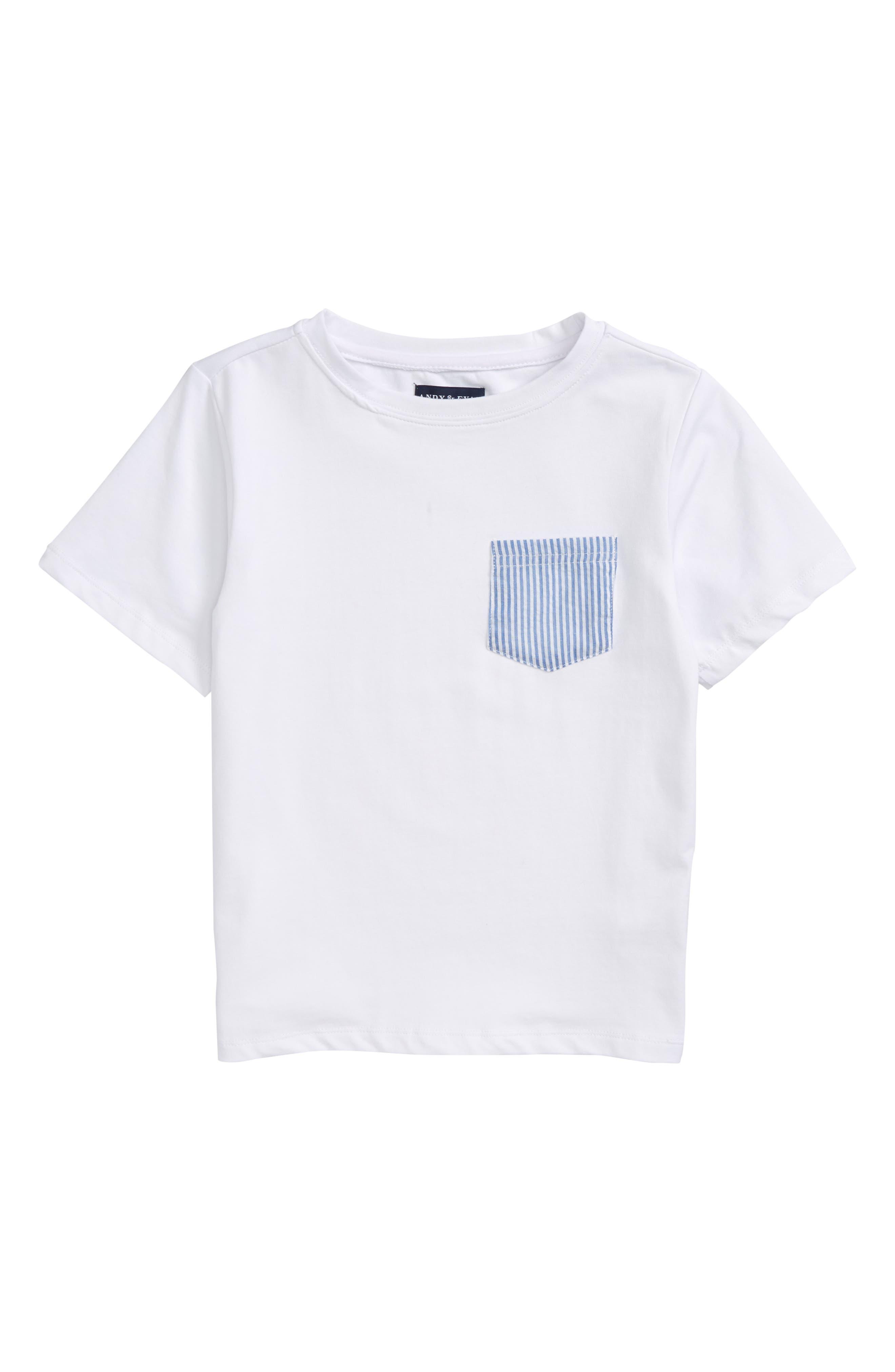 Seersucker Pocket T-Shirt,                         Main,                         color, White