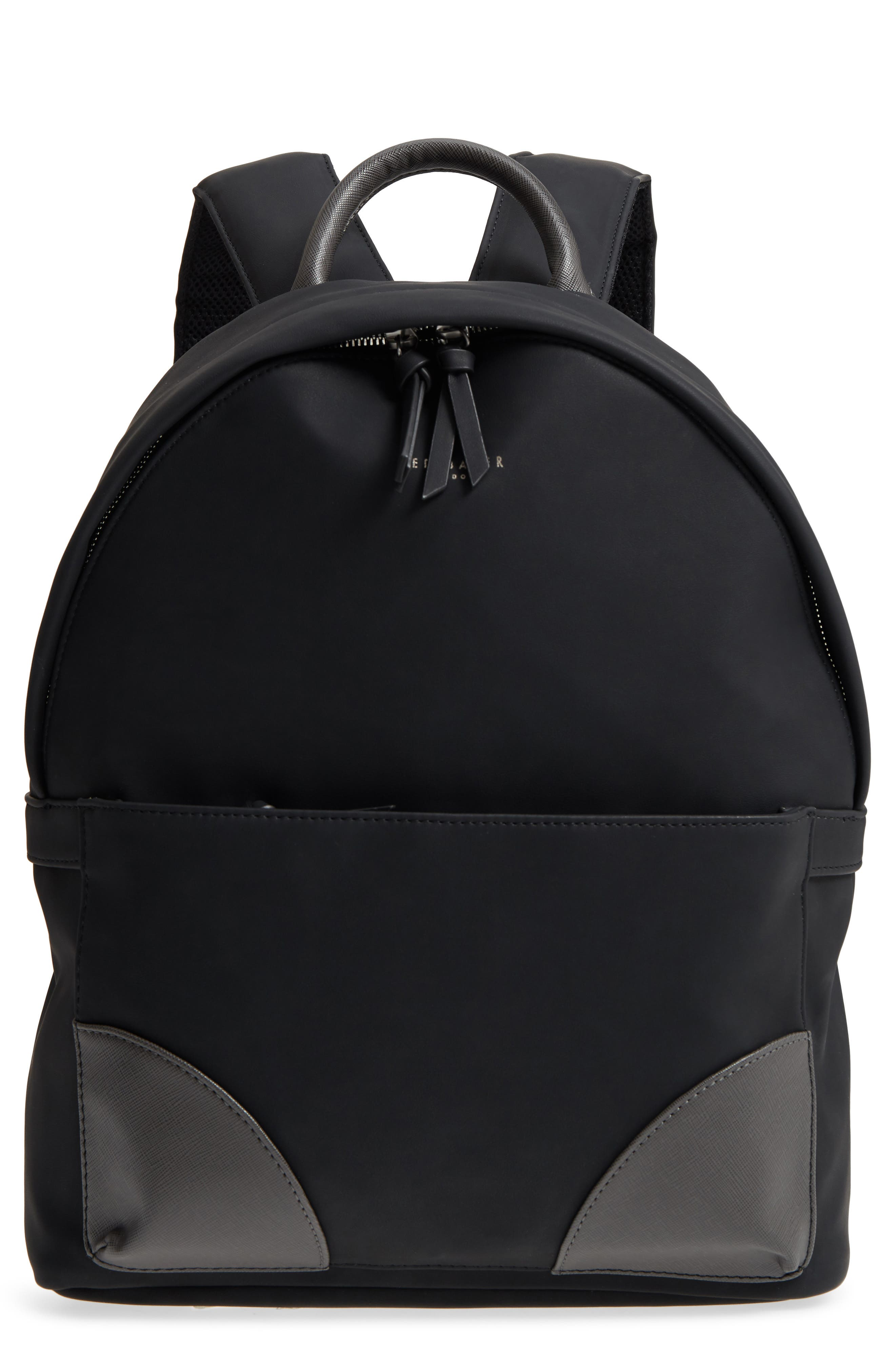 Passed Faux Leather Backpack,                             Main thumbnail 1, color,                             Black