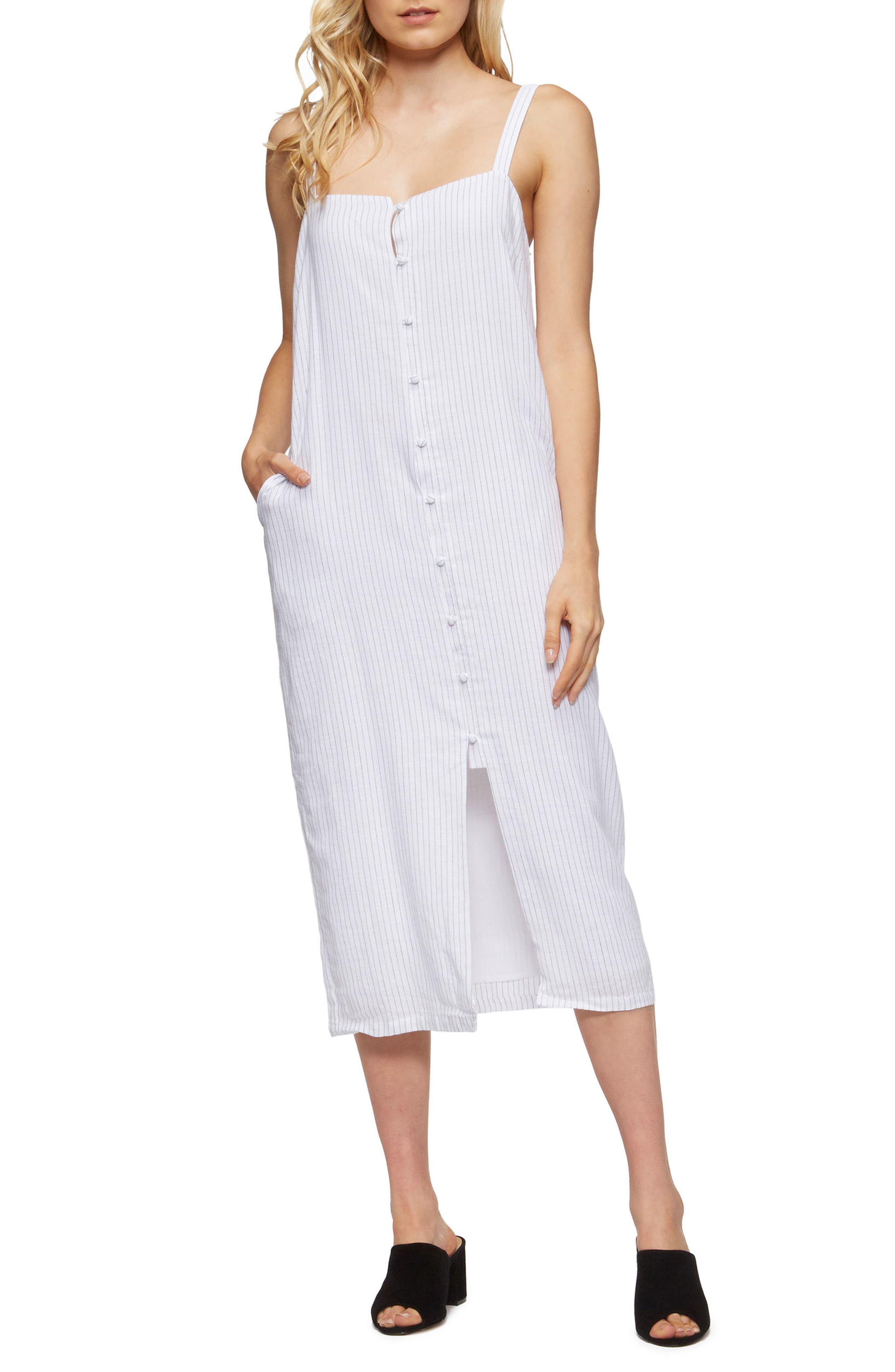 Tara Cover-Up Dress,                         Main,                         color, Black Pinstripe