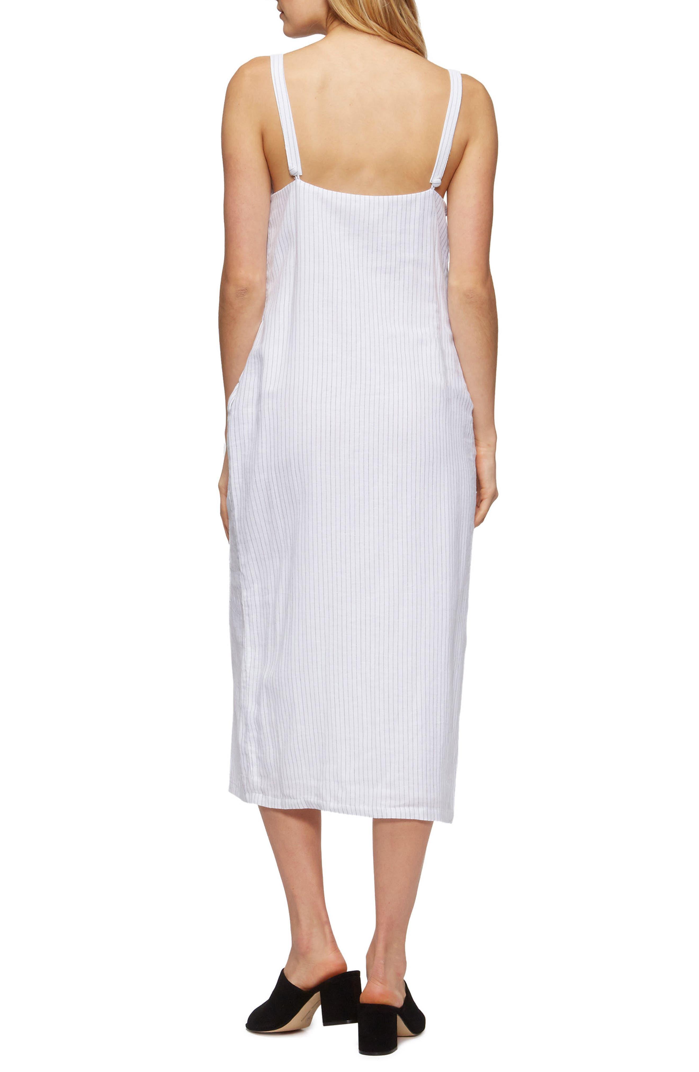 Tara Cover-Up Dress,                             Alternate thumbnail 2, color,                             Black Pinstripe