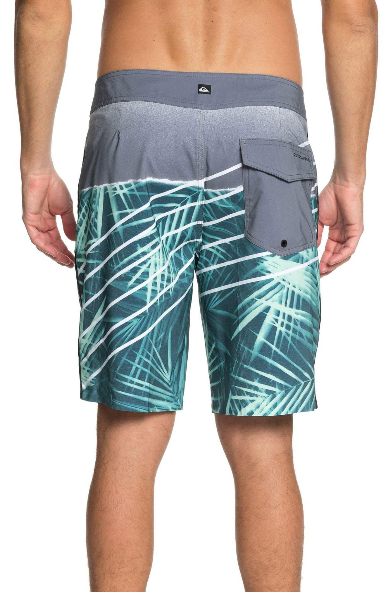Highline Palm Board Shorts,                             Alternate thumbnail 2, color,                             Tropic Green