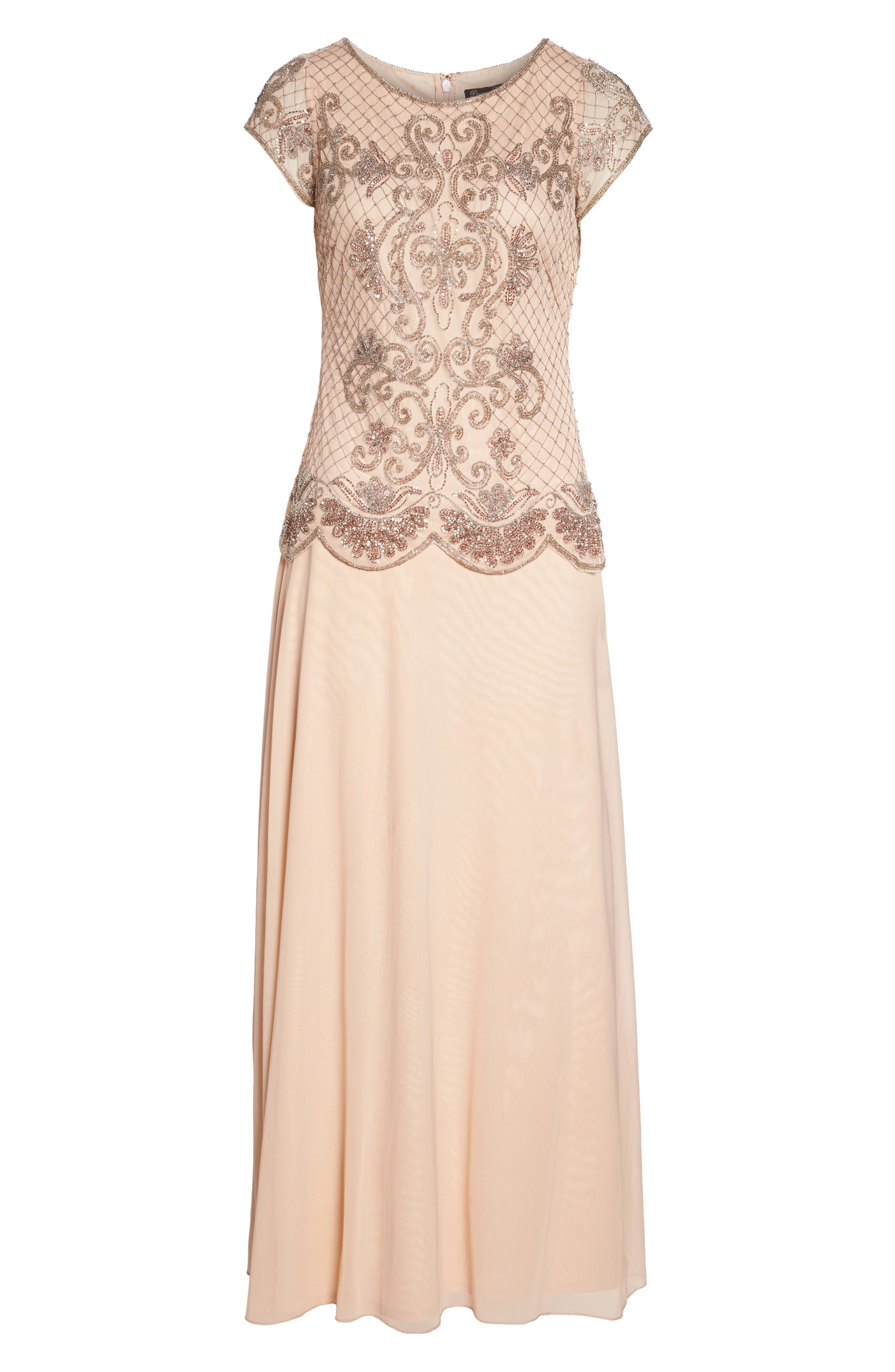 Alternate Image 6  - Pisarro Nights Embellished Mock Two-Piece Gown
