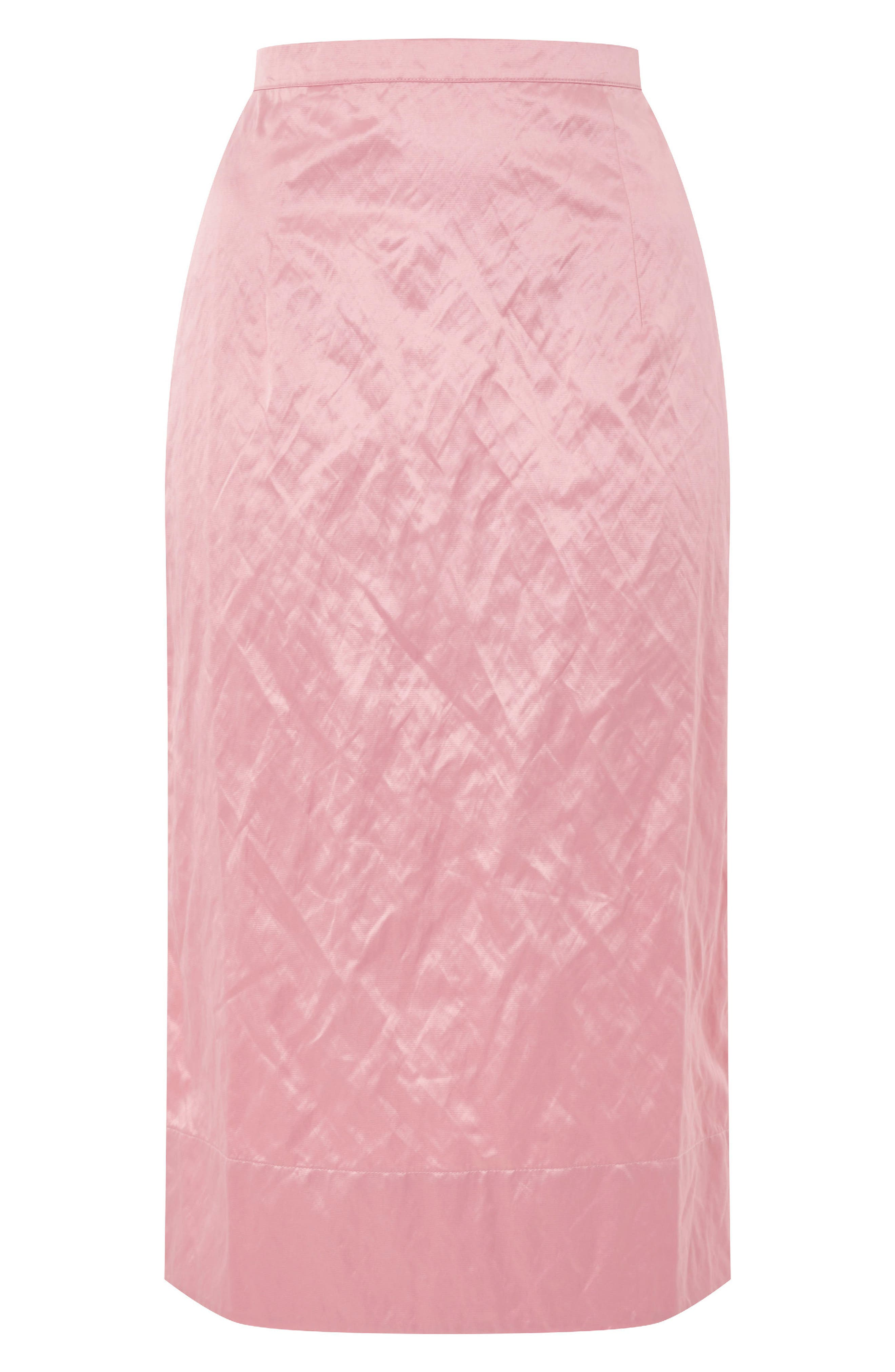 Topshop Boutique Rigid Crinkle Skirt