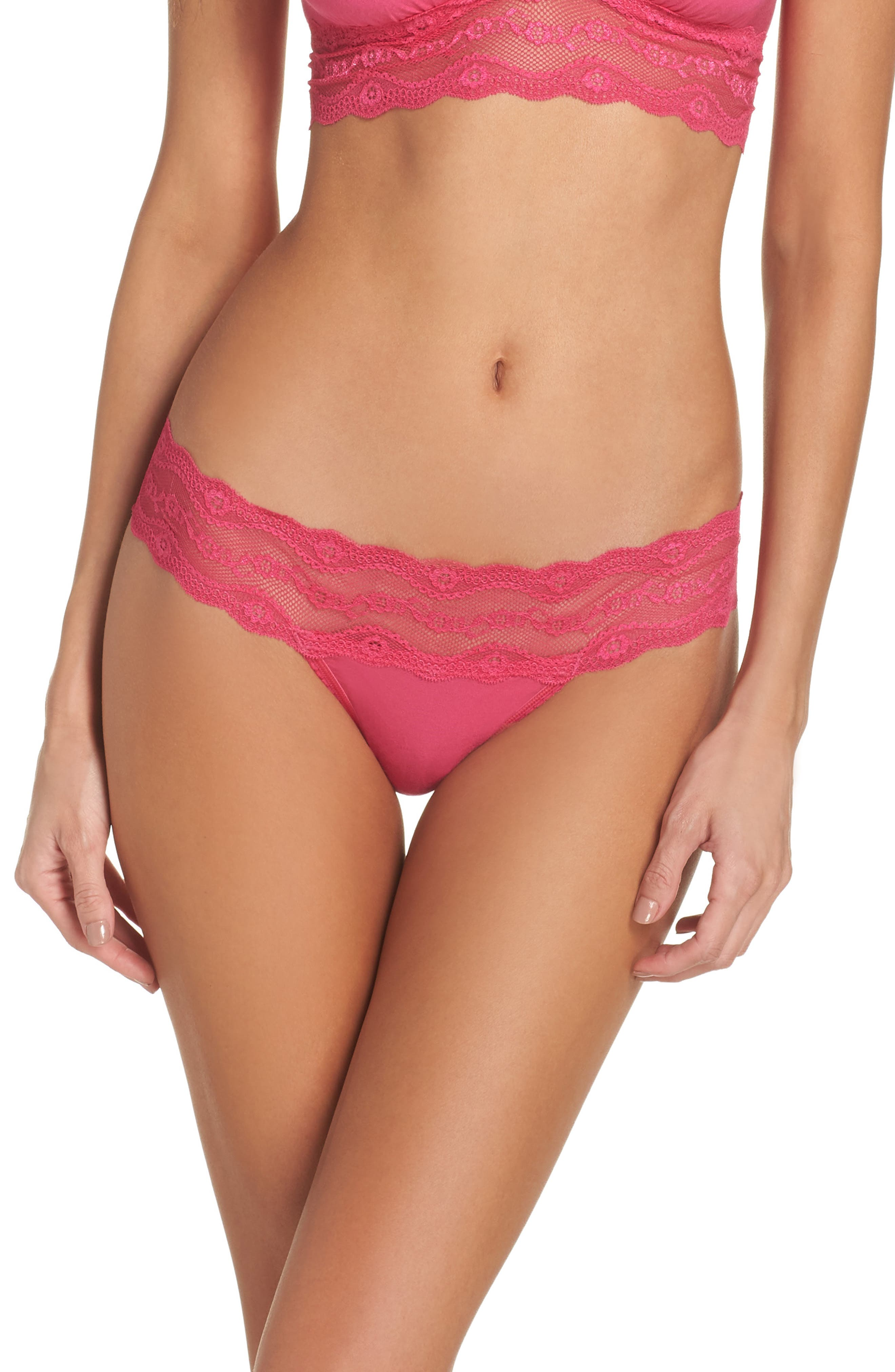 Main Image - b.tempt'd by Wacoal B. Adorable Thong (3 for $33)