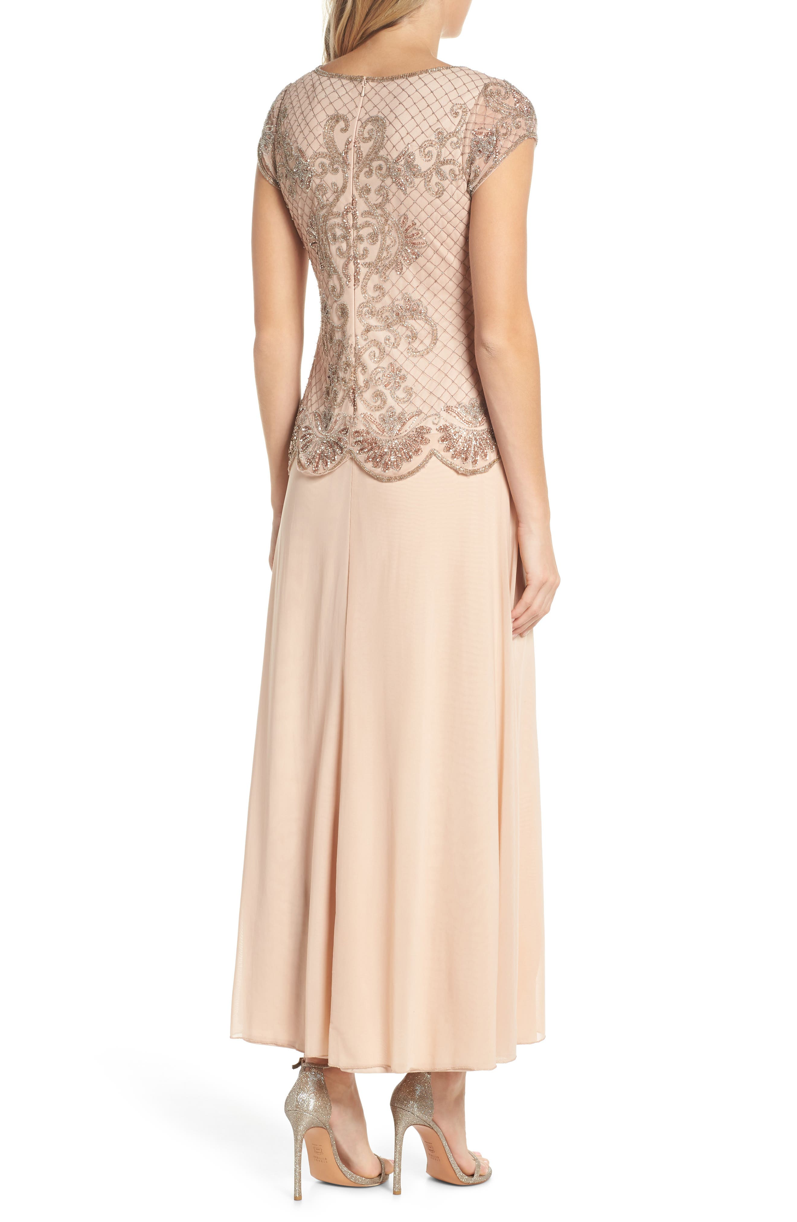 Alternate Image 2  - Pisarro Nights Embellished Mock Two-Piece Gown