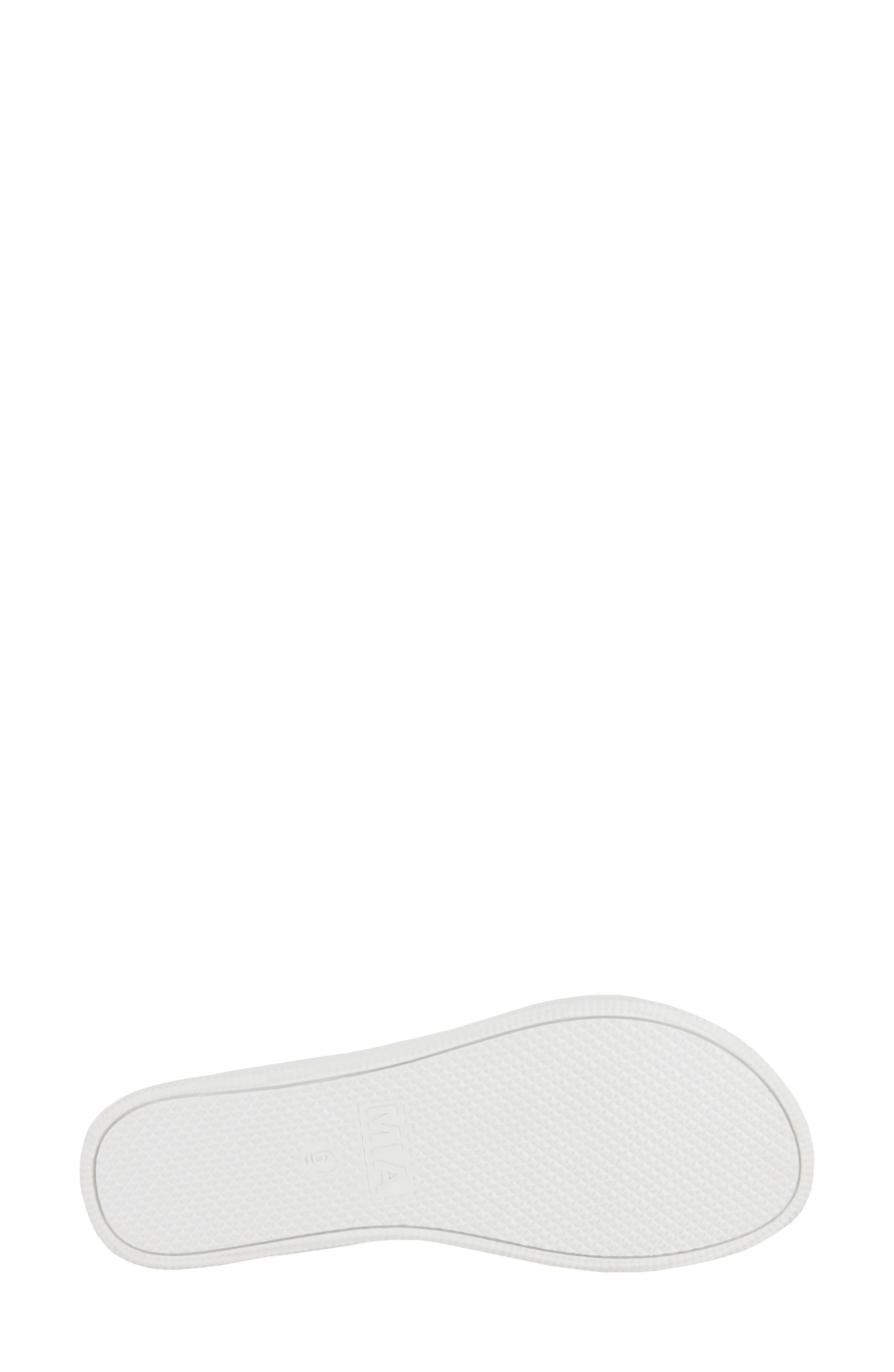 Venessa Platform Slide Sandal,                             Alternate thumbnail 6, color,                             Rose Gold Faux Leather