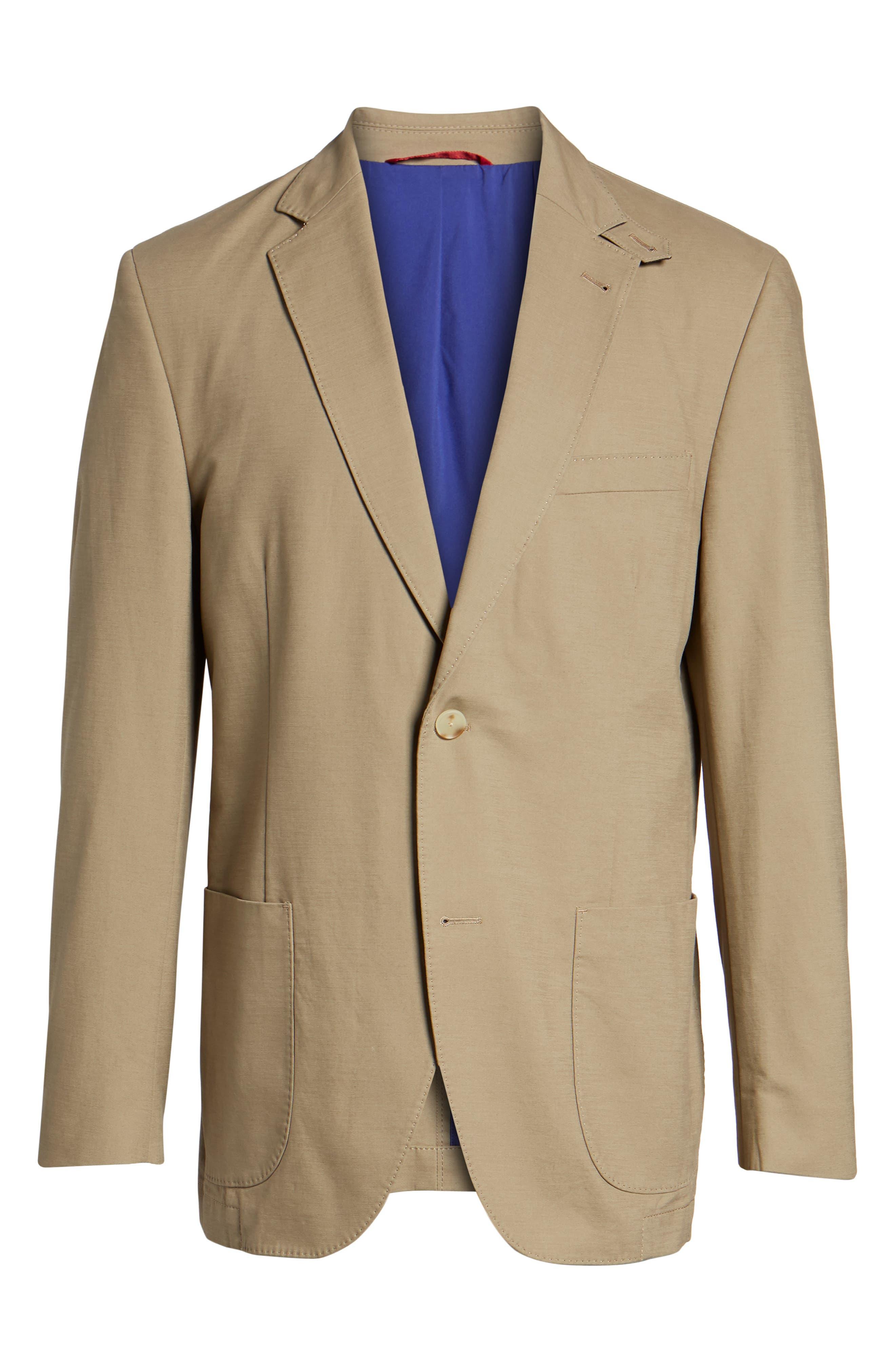 Bono AIM Classic Fit Stretch Cotton Blazer,                             Alternate thumbnail 6, color,                             Khaki