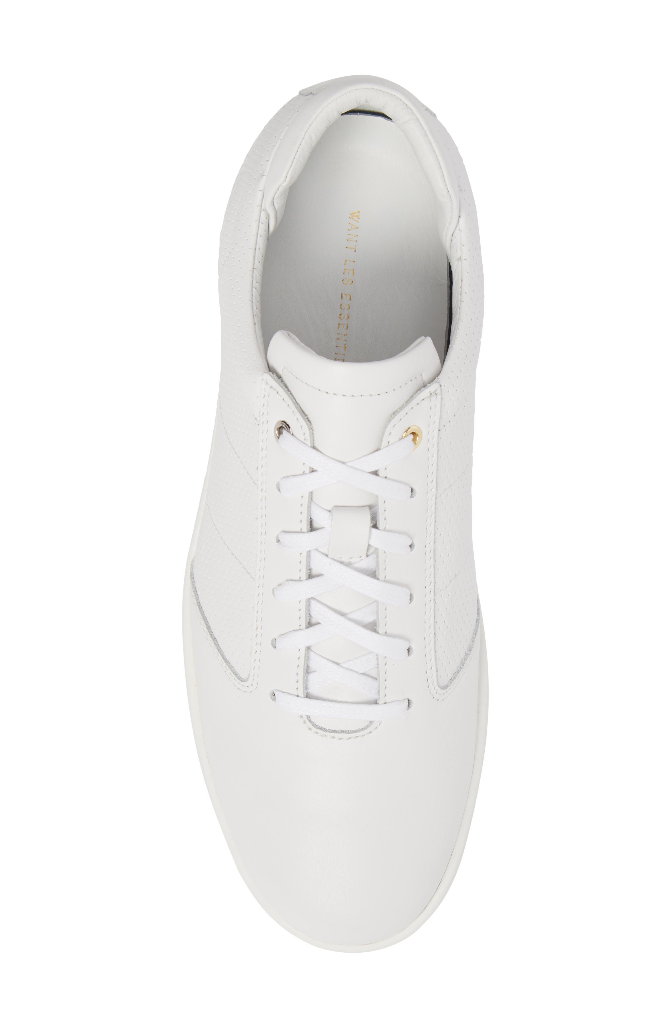 Lennon Sneaker,                             Alternate thumbnail 5, color,                             Multi Perforated White