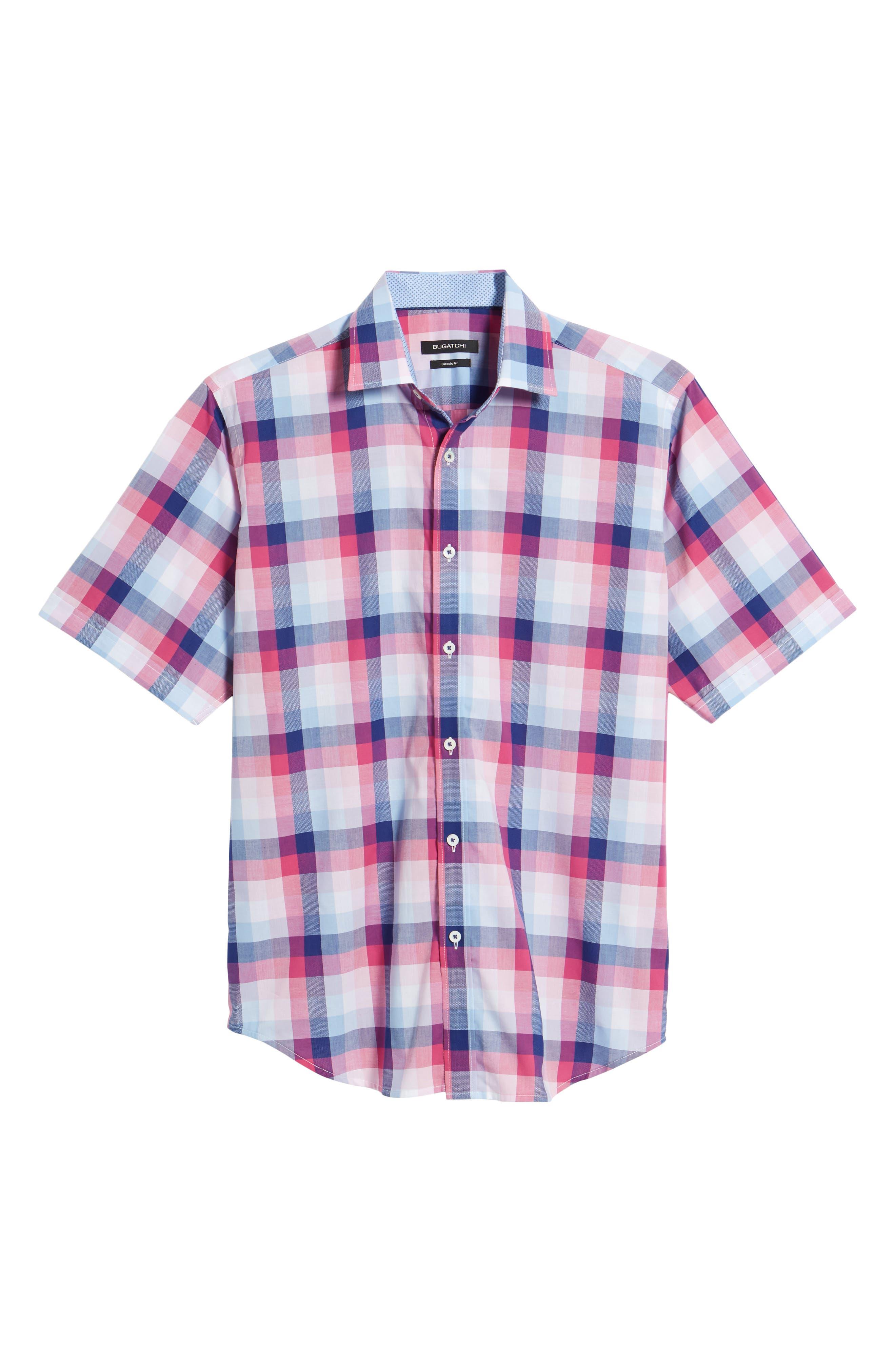 Classic Fit Check Sport Shirt,                             Alternate thumbnail 6, color,                             Gum Drop