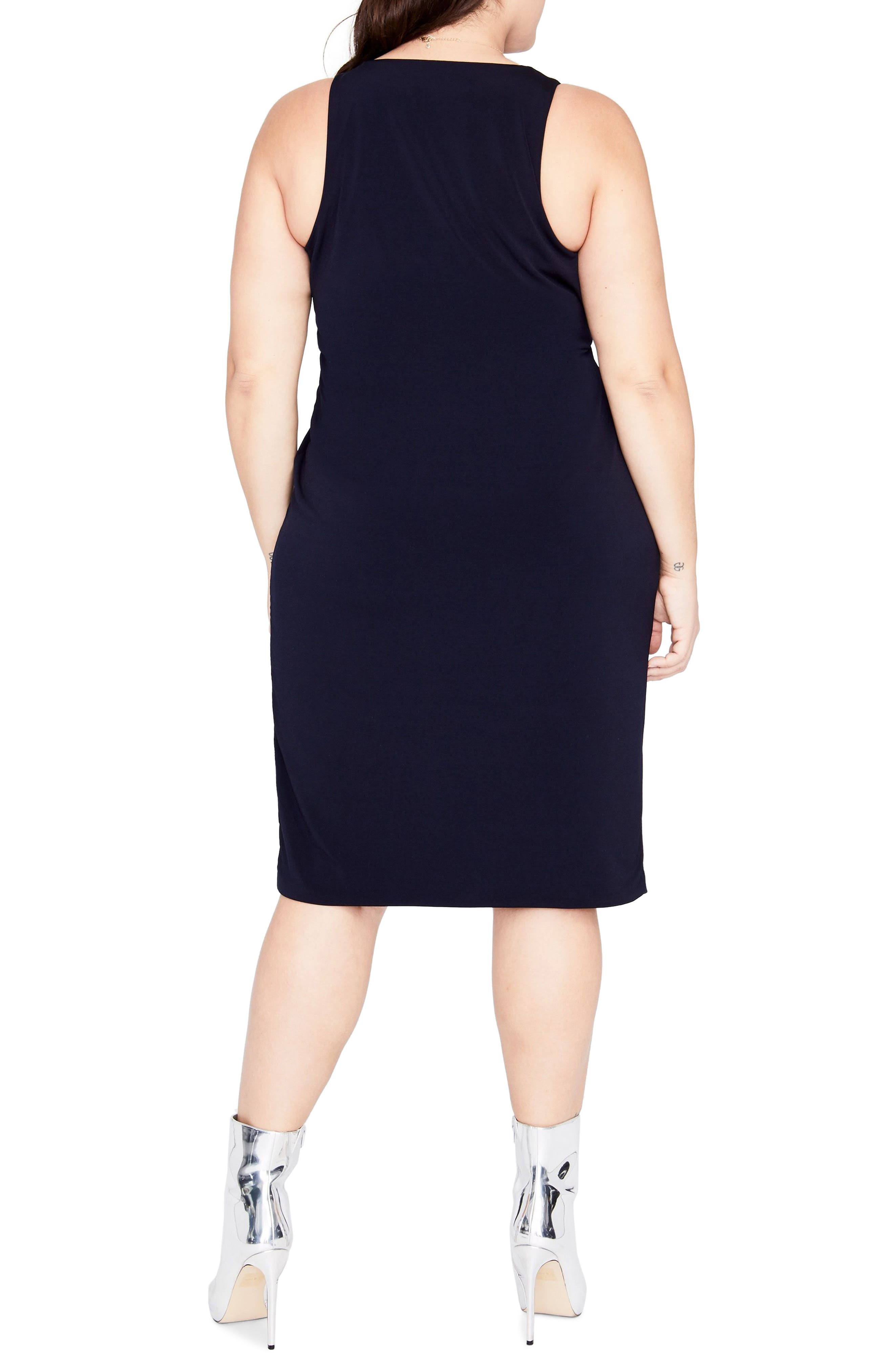 Alternate Image 2  - RACHEL Rachel Roy Twist Front Dress (Plus Size)