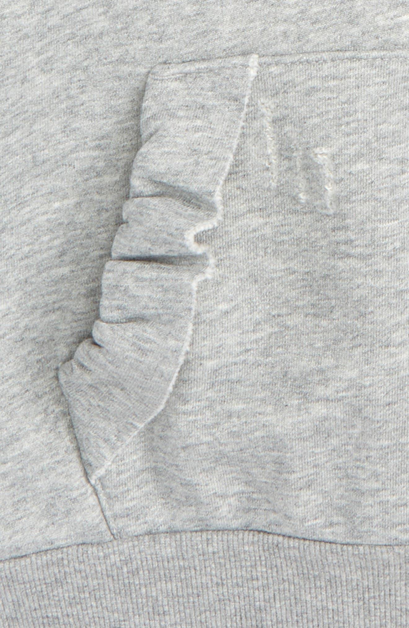 Ruffle Sleeve Hoodie,                             Alternate thumbnail 2, color,                             High Rise