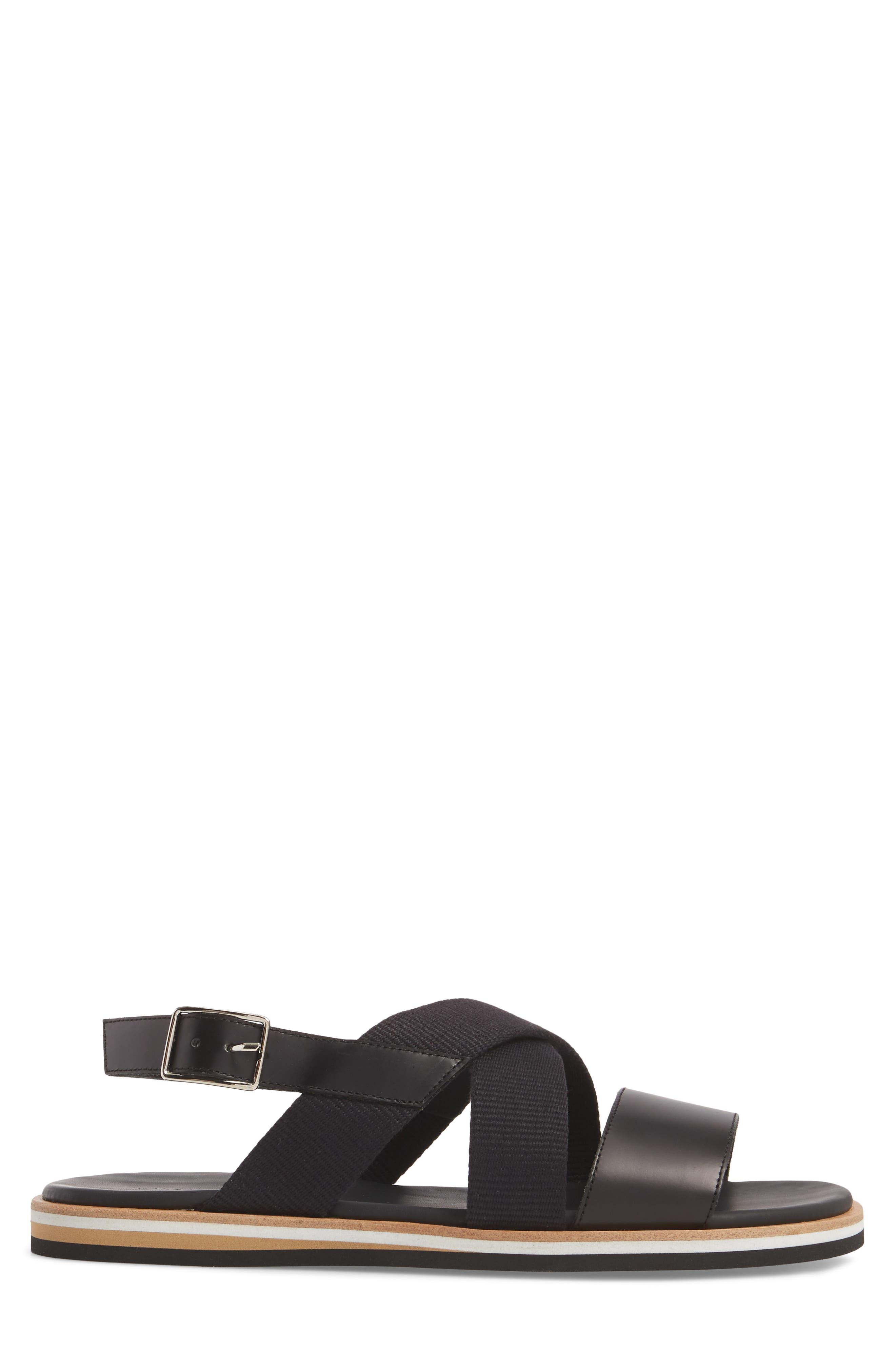 Jobim Sandal,                             Alternate thumbnail 3, color,                             Black Cord/ Black