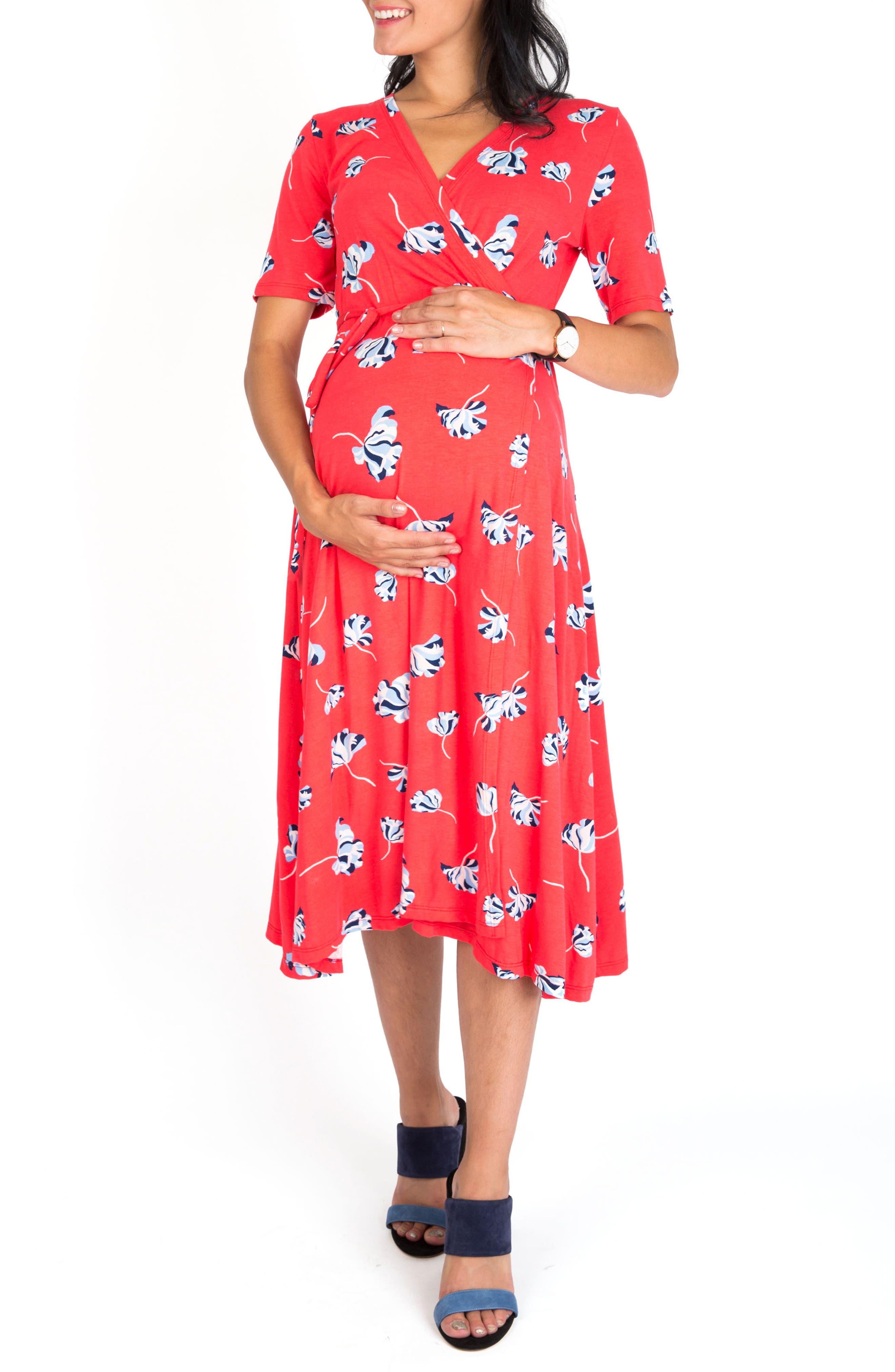 Nom Maternity Maya Maternity/Nursing Wrap Dress