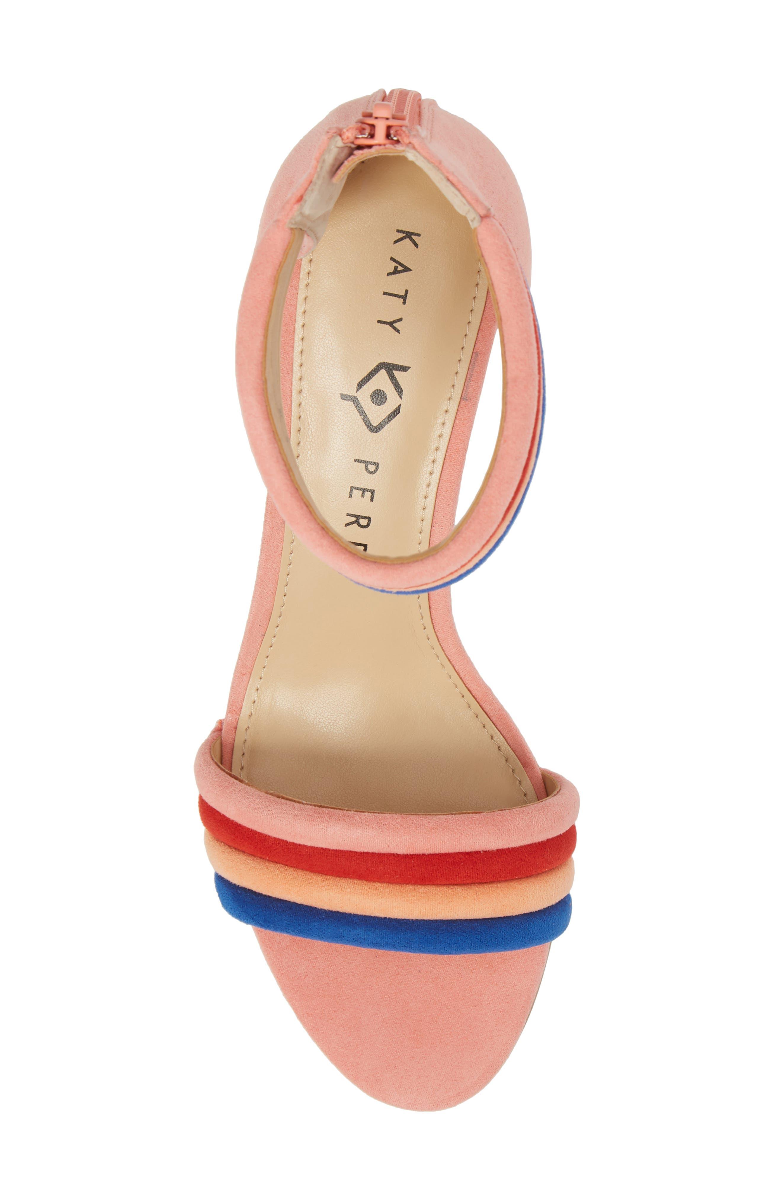 Tube Strap Sandal,                             Alternate thumbnail 5, color,                             Pop Pink Suede