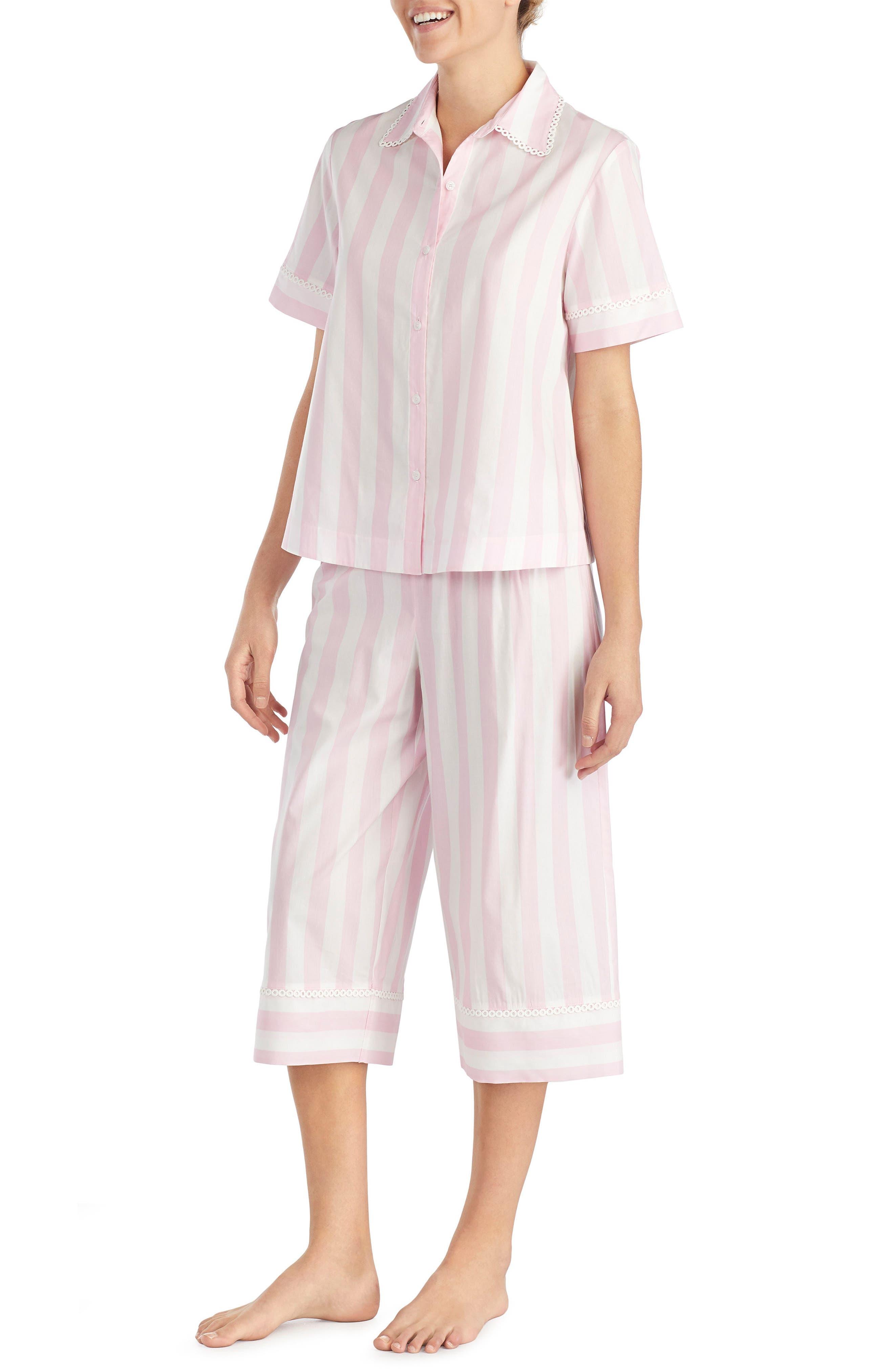 capri pajamas,                             Alternate thumbnail 3, color,                             Bay Stripe