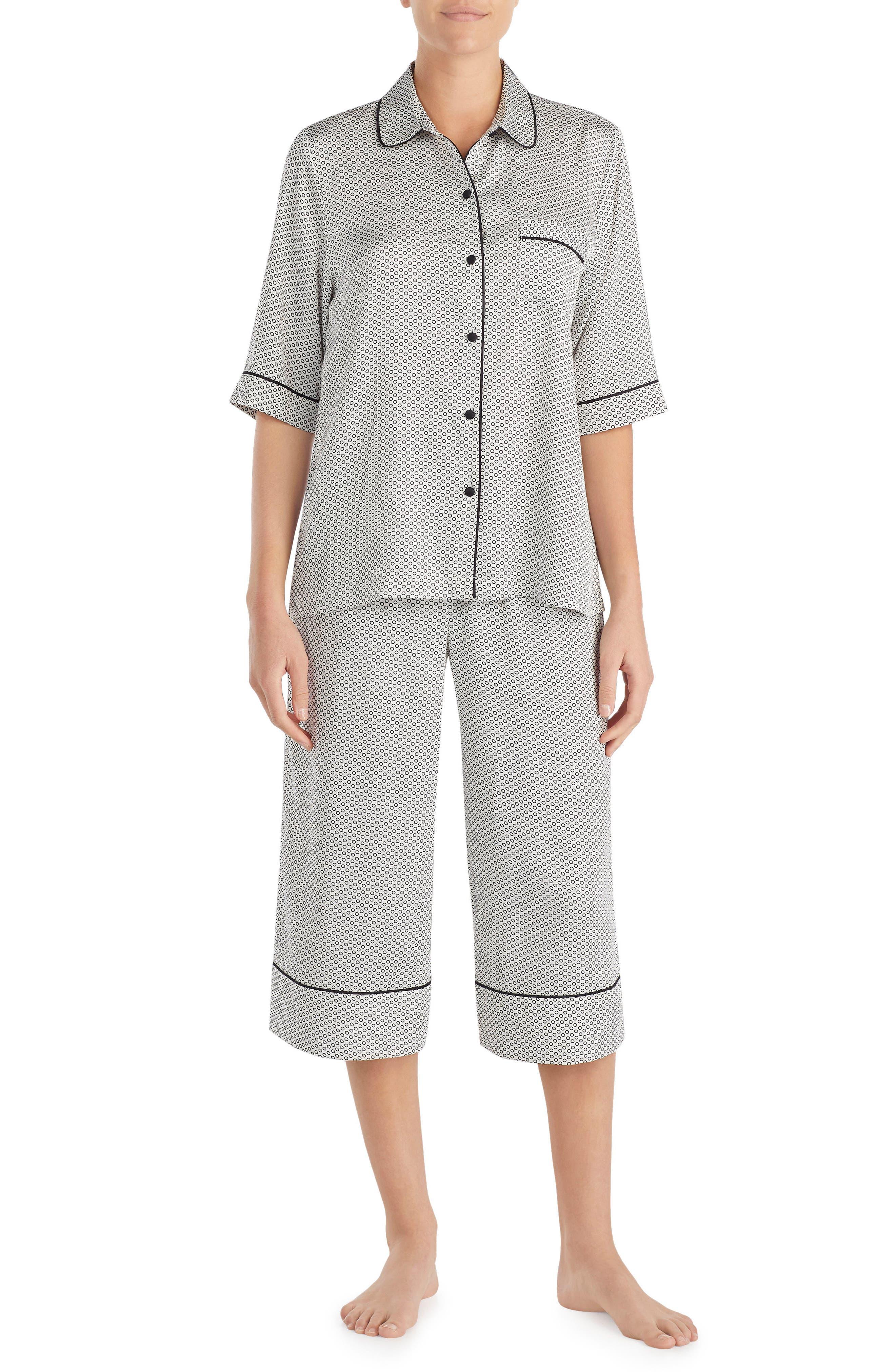 capri pajamas,                             Main thumbnail 1, color,                             Circles