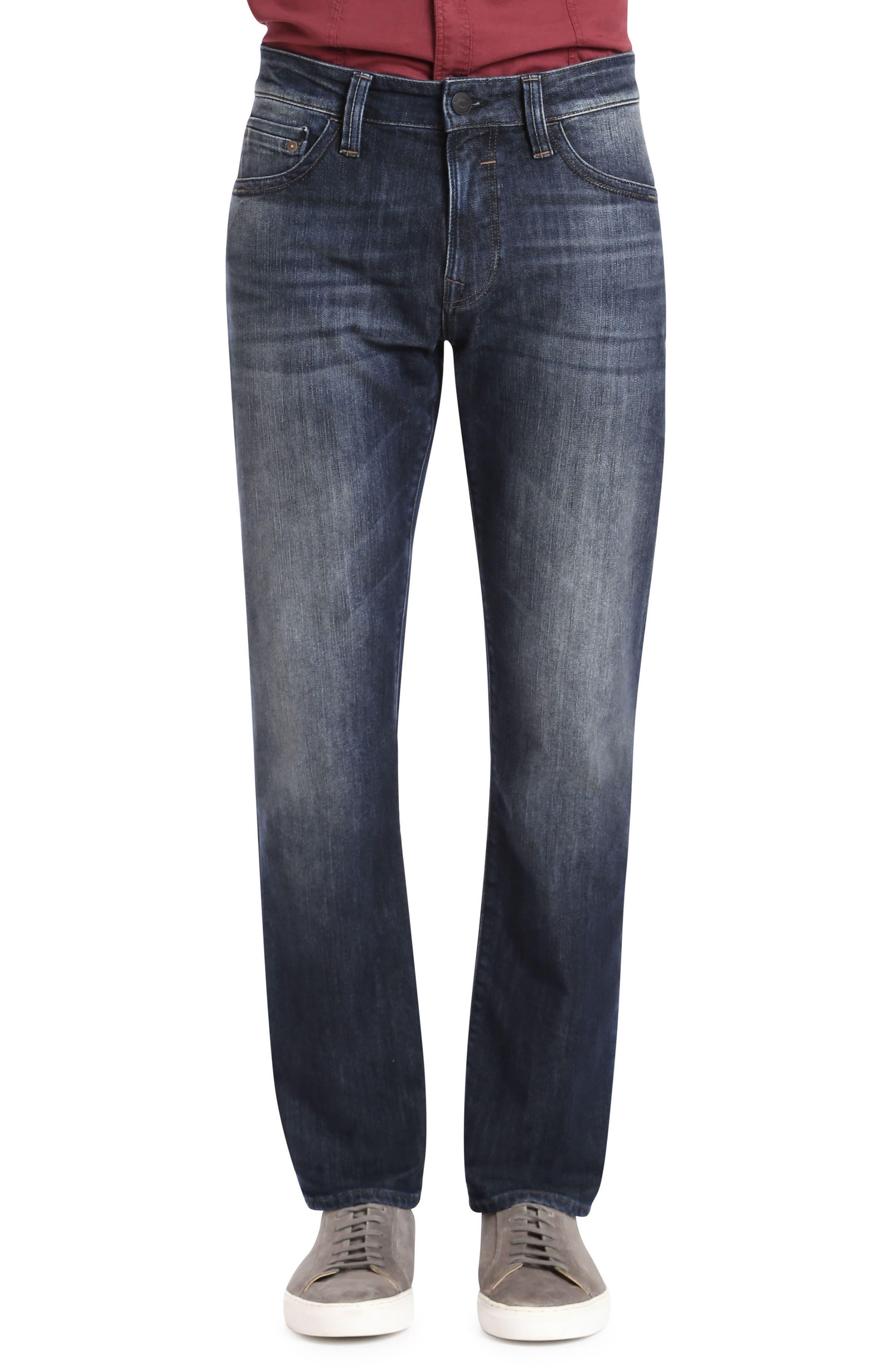 Mavi Jeans Zach Straight Leg Jeans (Deep Shaded New York)