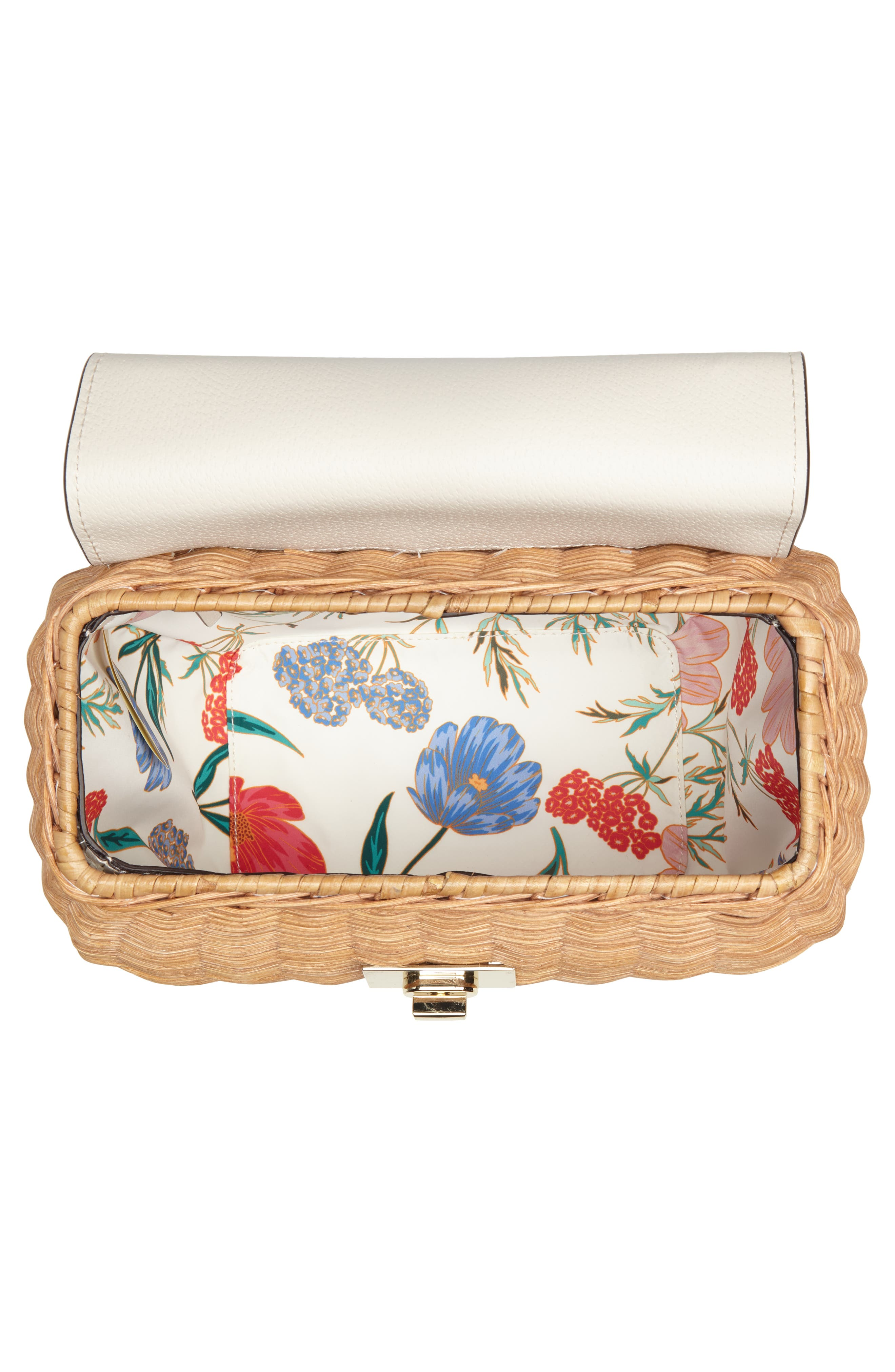 bloom street - justina wicker satchel,                             Alternate thumbnail 4, color,                             Natural/ Bleach Bone