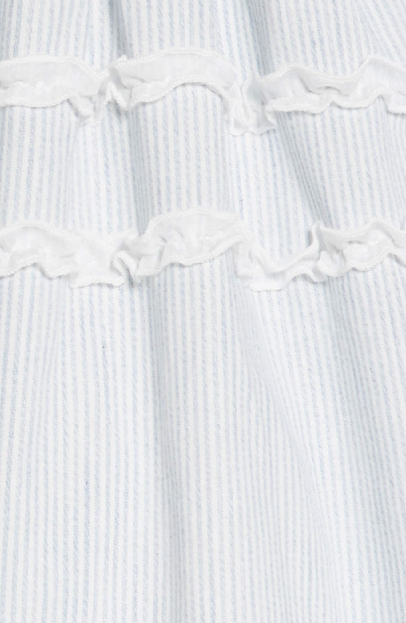 Stripe Ruffle Dress,                             Alternate thumbnail 3, color,                             Blue/ White