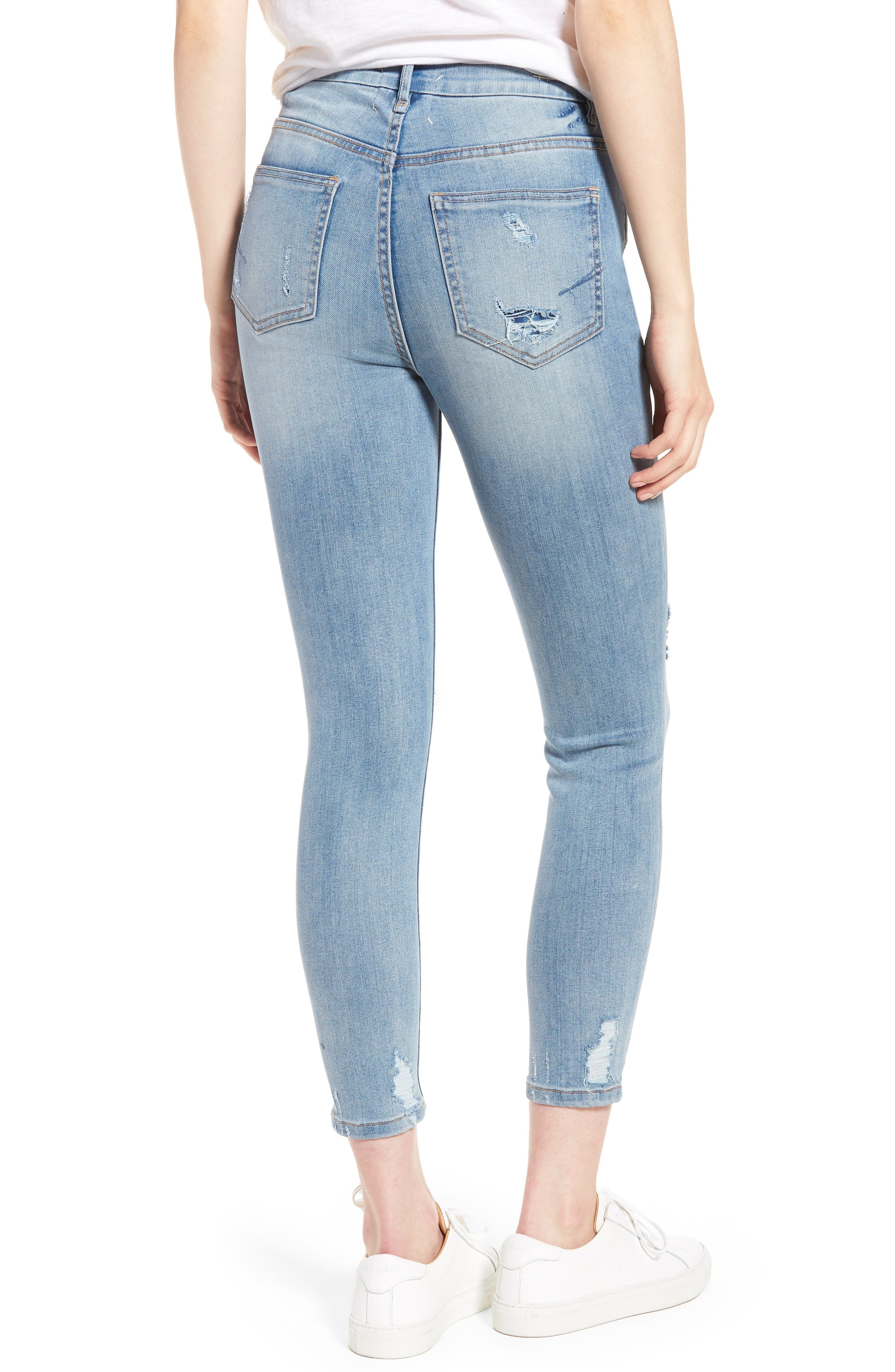 Cressa High Rise Ankle Skinny Jeans,                             Alternate thumbnail 2, color,                             Varnish