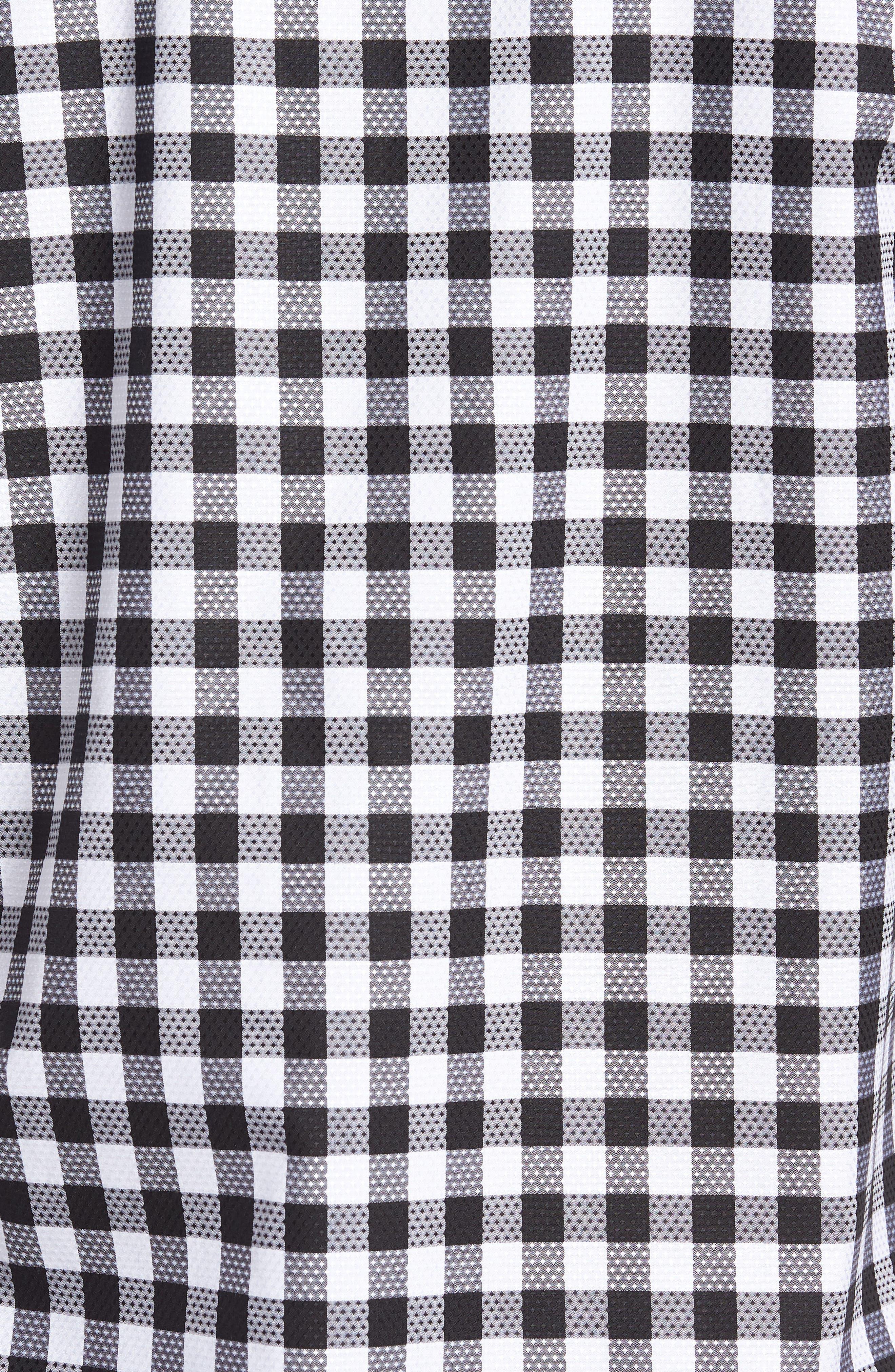 Woven Sport Shirt,                             Alternate thumbnail 5, color,                             Black