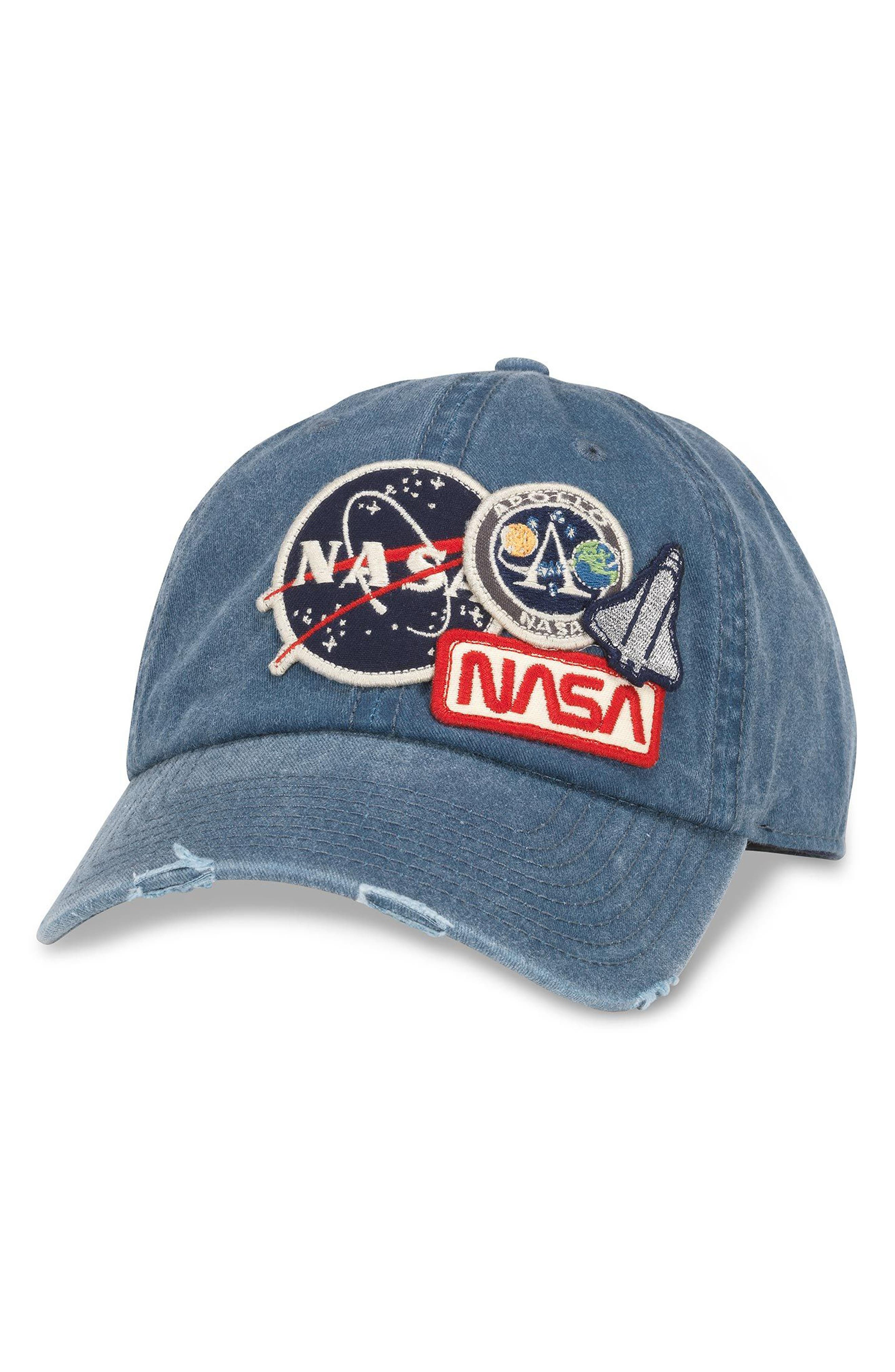 Iconic - NASA Ball Cap,                             Main thumbnail 1, color,                             Navy