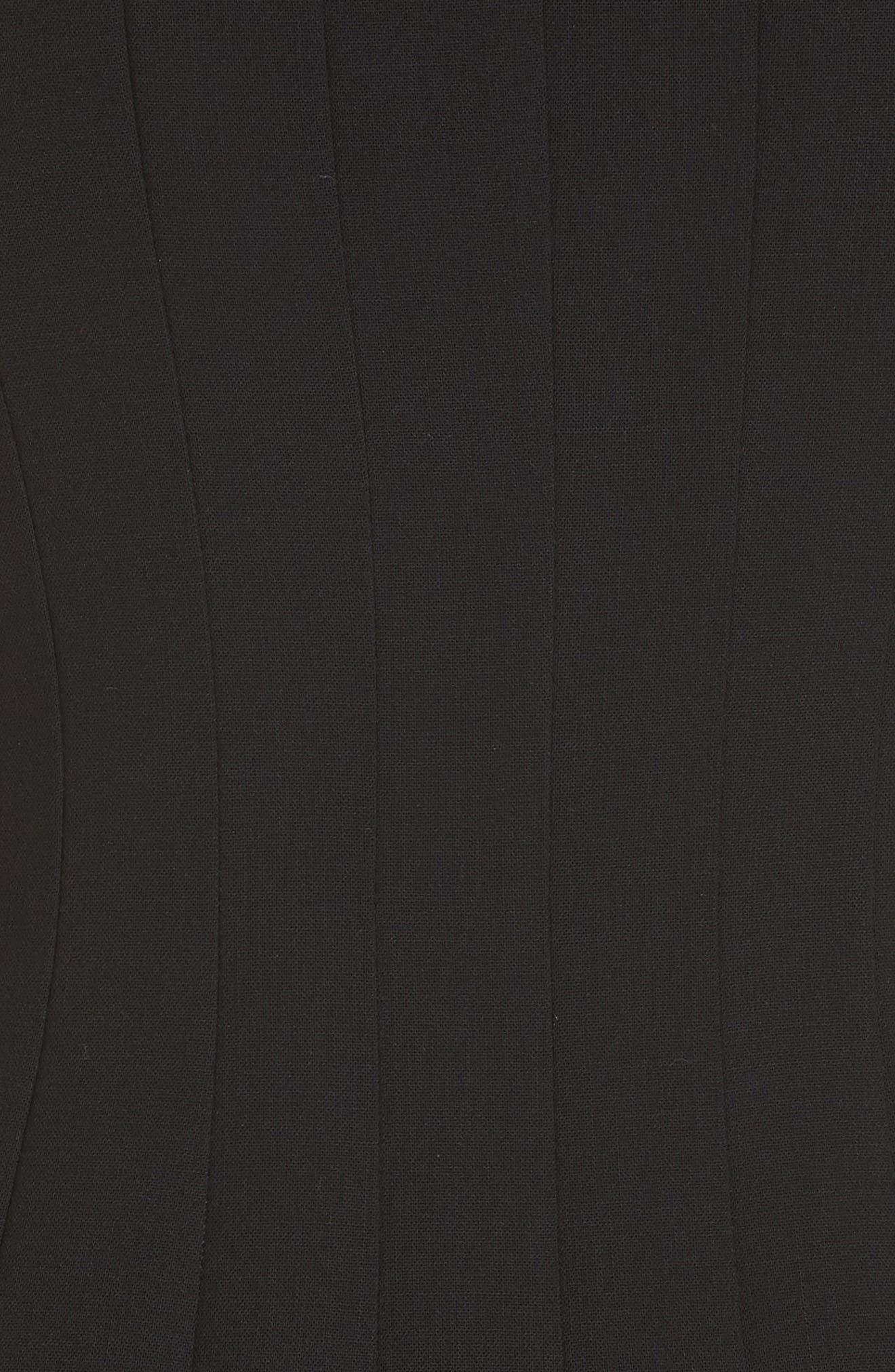 Sleeveless Godet Pleat Dress,                             Alternate thumbnail 5, color,                             Black