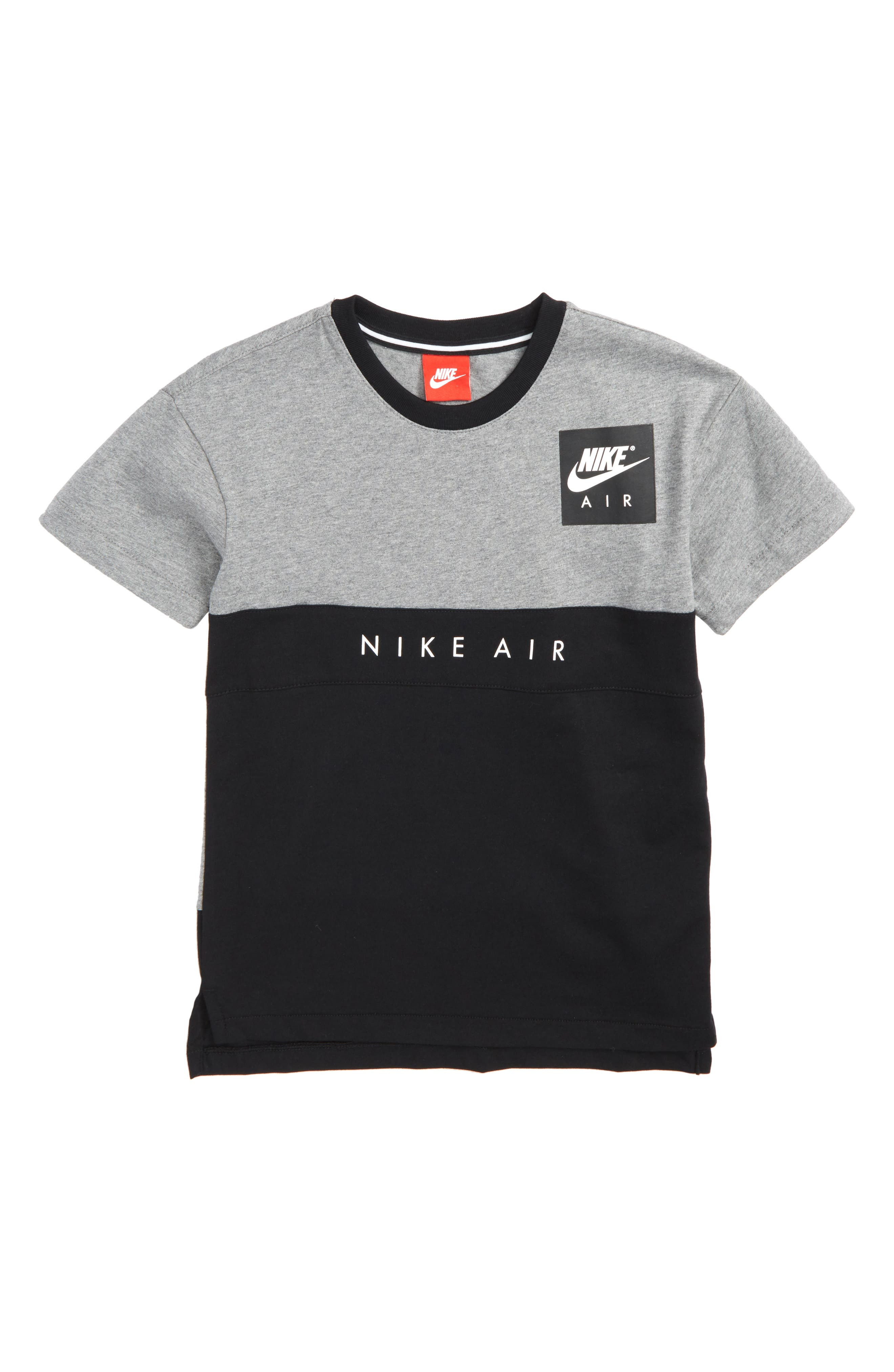 Air Shirt,                         Main,                         color, Carbon Heather/ Black