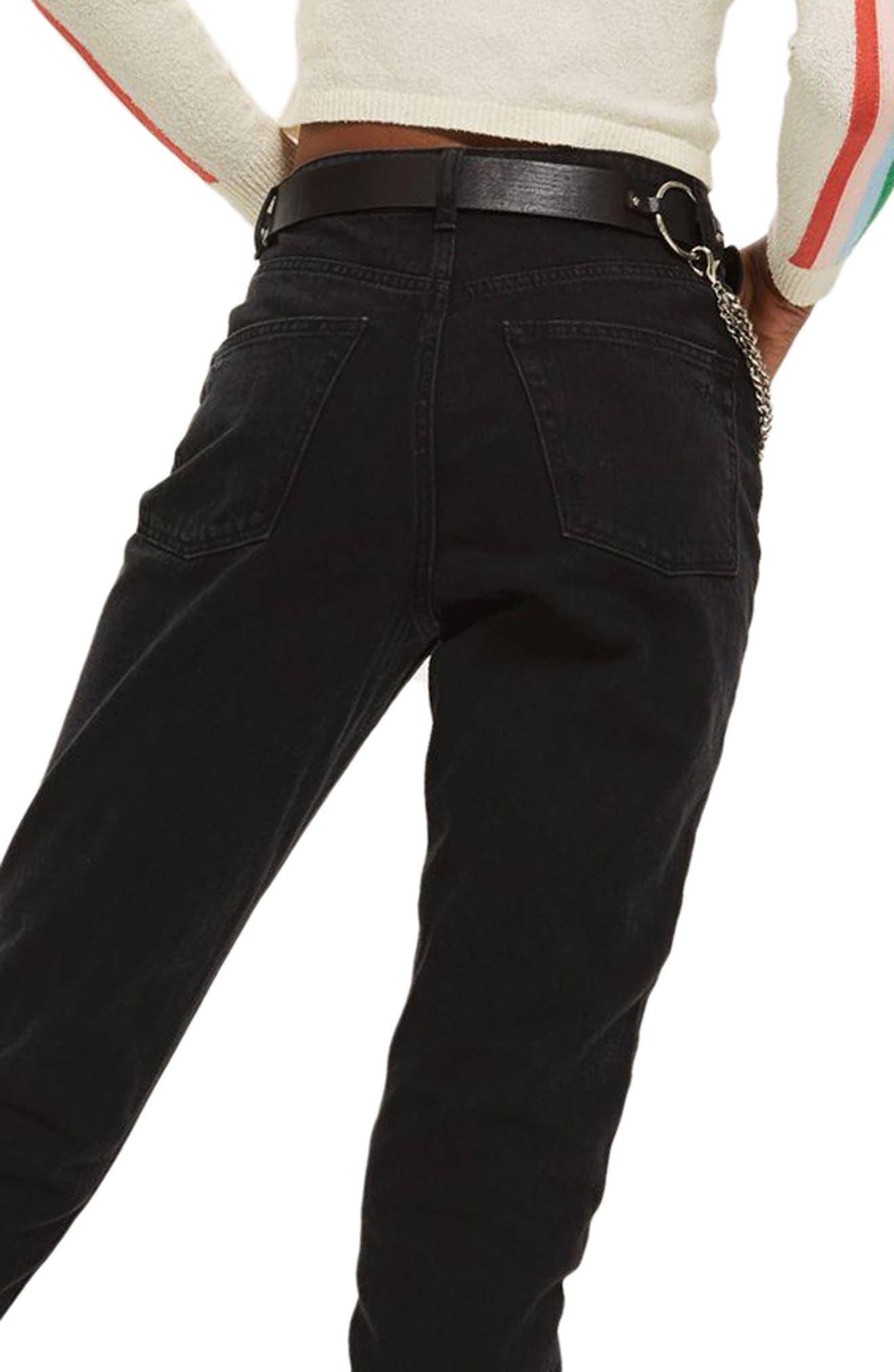 Black Mom Jeans,                             Alternate thumbnail 2, color,                             Black