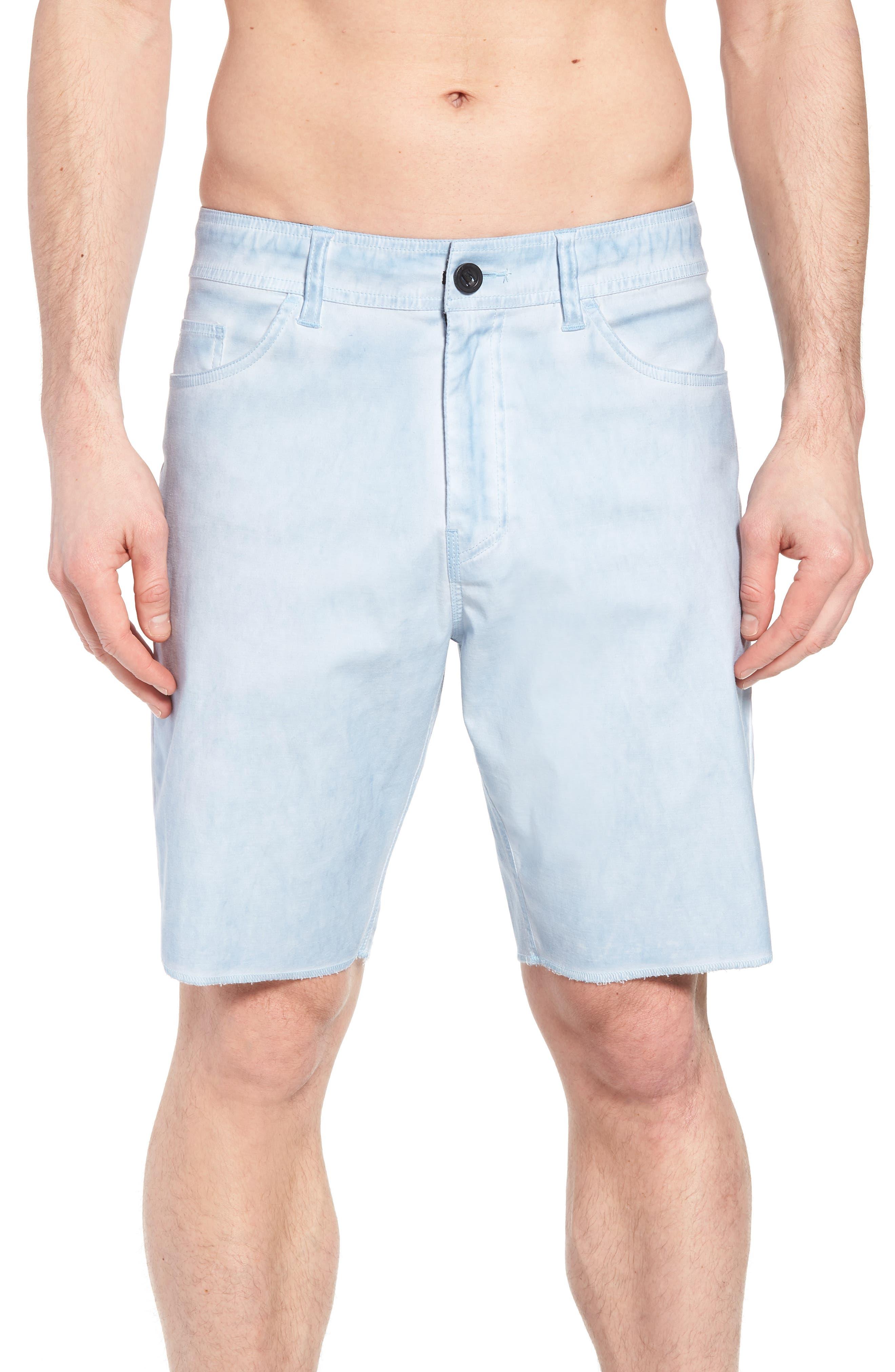 Kick Back Hybrid Shorts,                             Alternate thumbnail 4, color,                             Light Indigo