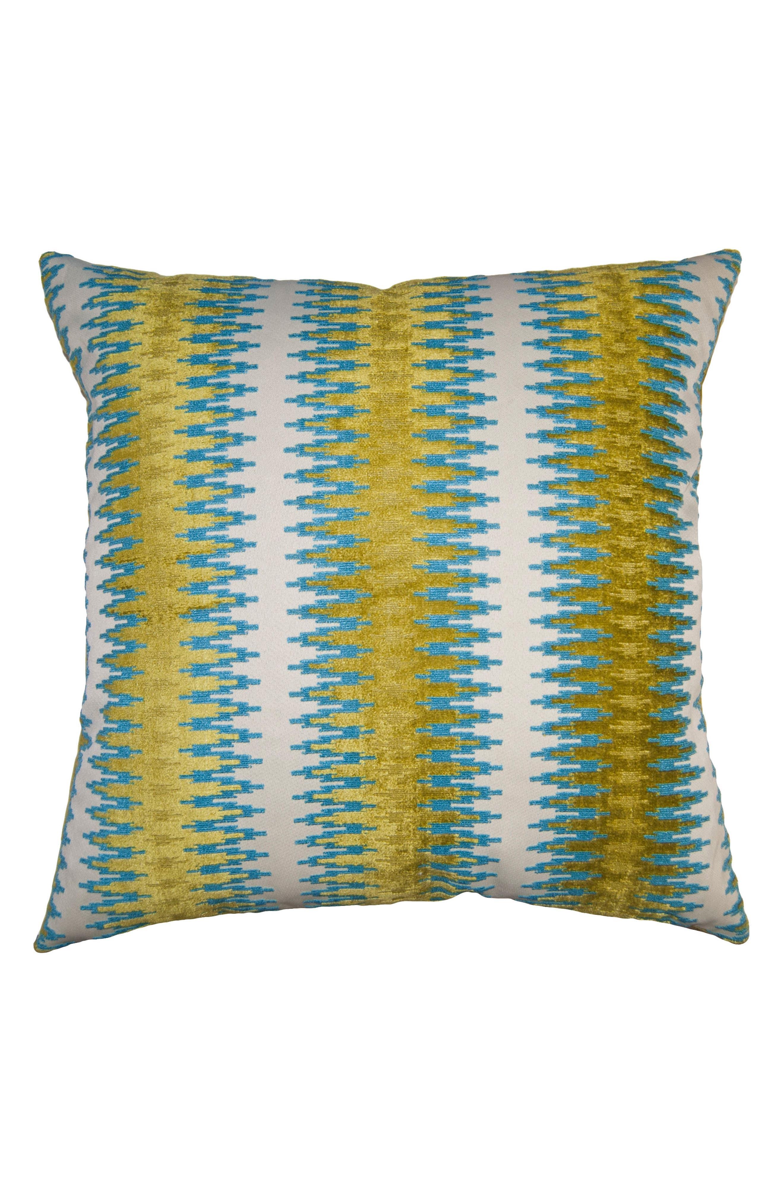 Riviera Radar Accent Pillow,                             Main thumbnail 1, color,                             Green