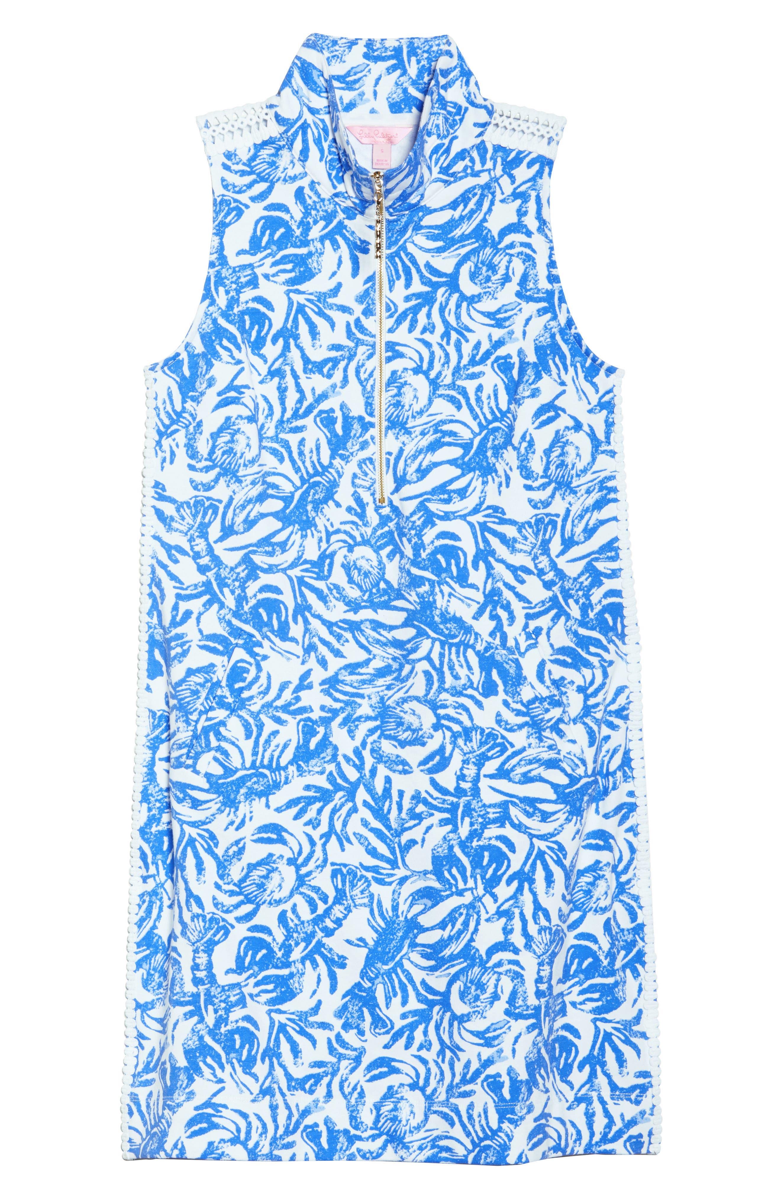 Skipper Sleeveless Shift Dress,                             Alternate thumbnail 6, color,                             Resort White On A Roll