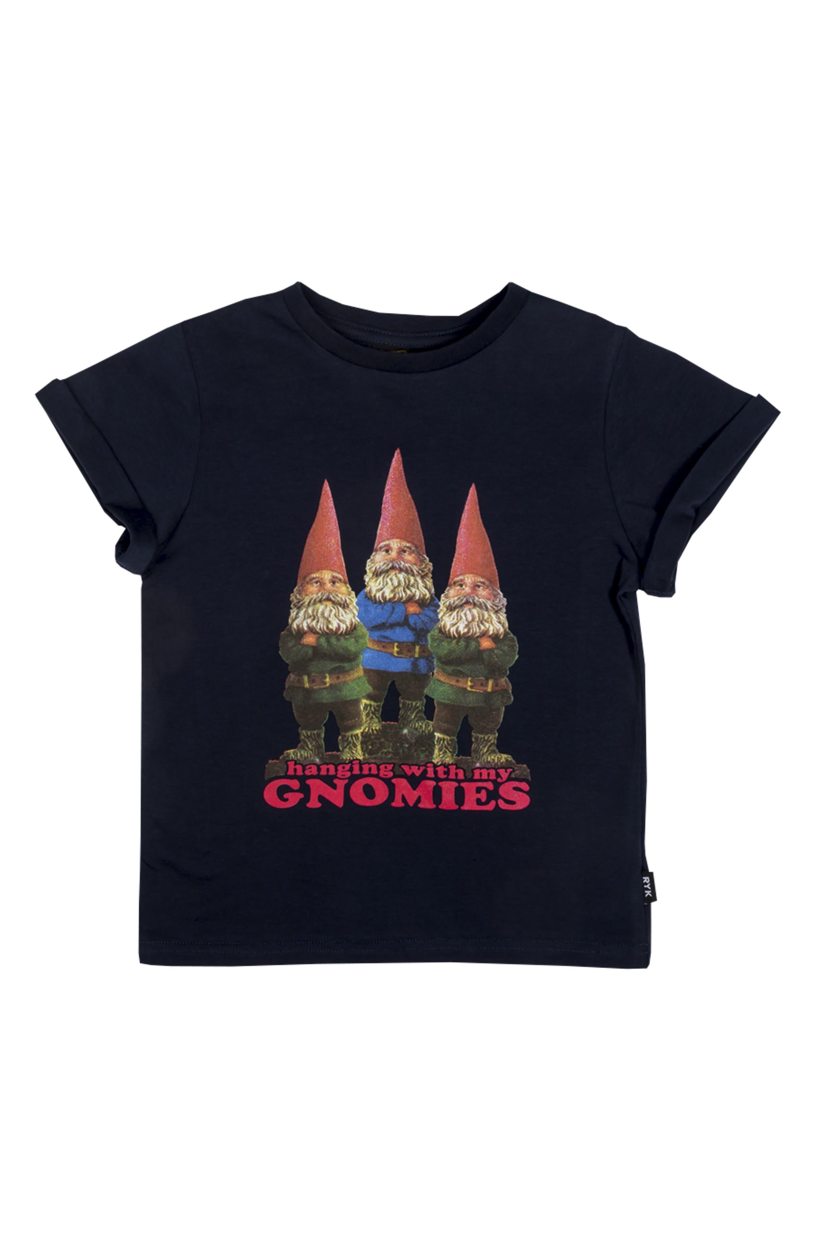 Gnomies Graphic T-Shirt,                         Main,                         color, Navy