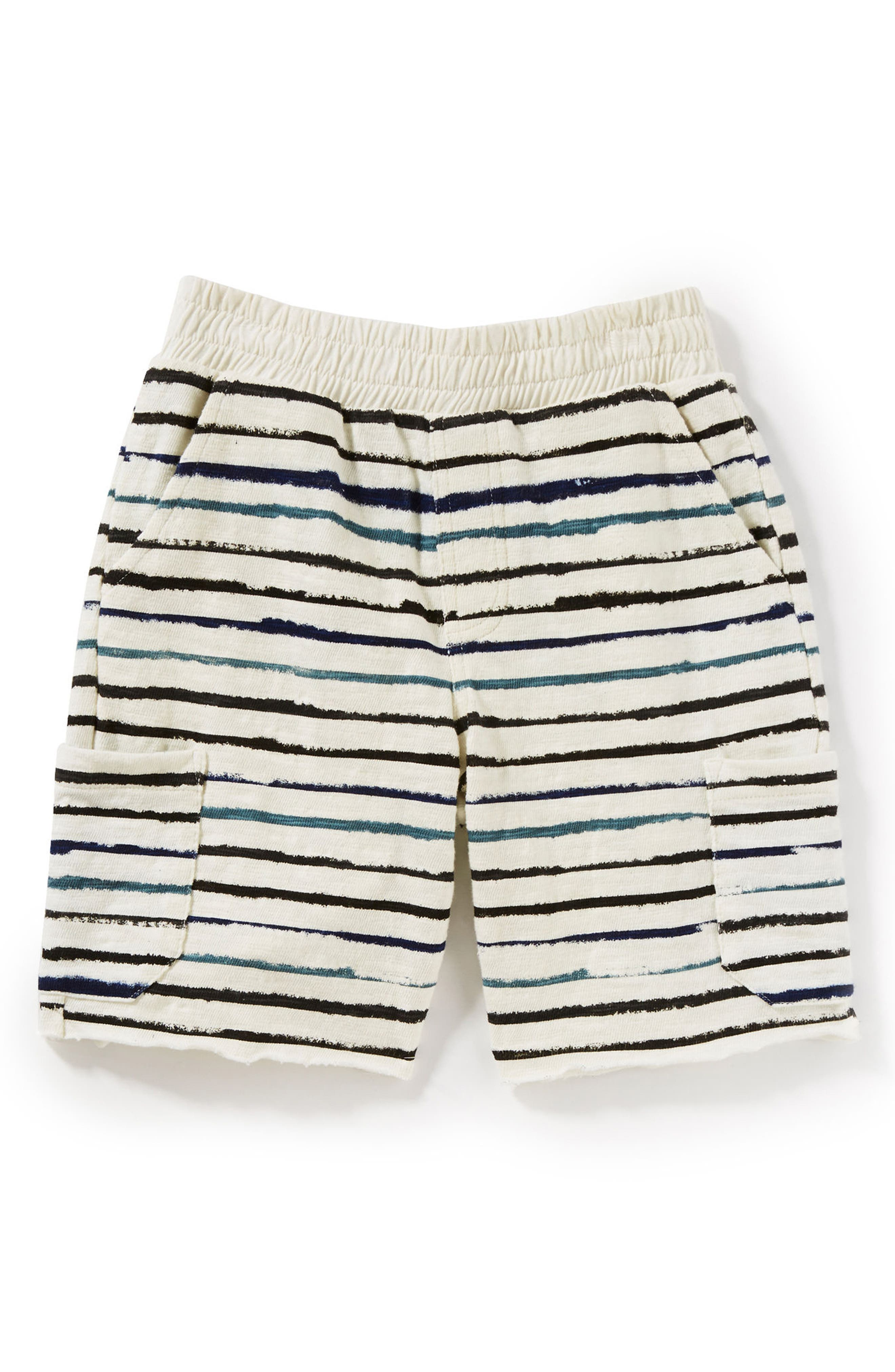 Asher Stripe Shorts,                         Main,                         color, Ivory