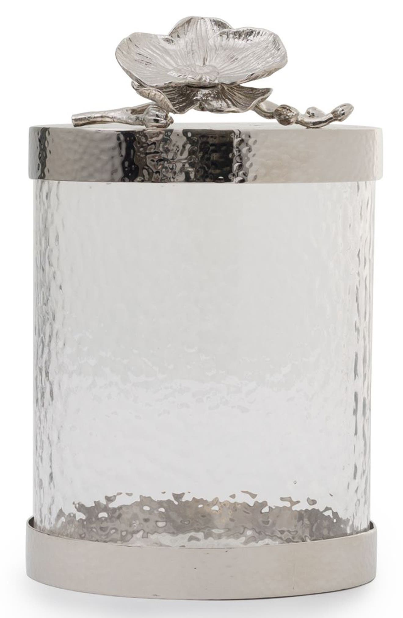 White Orchid Canister,                             Main thumbnail 1, color,                             Silver/ Small