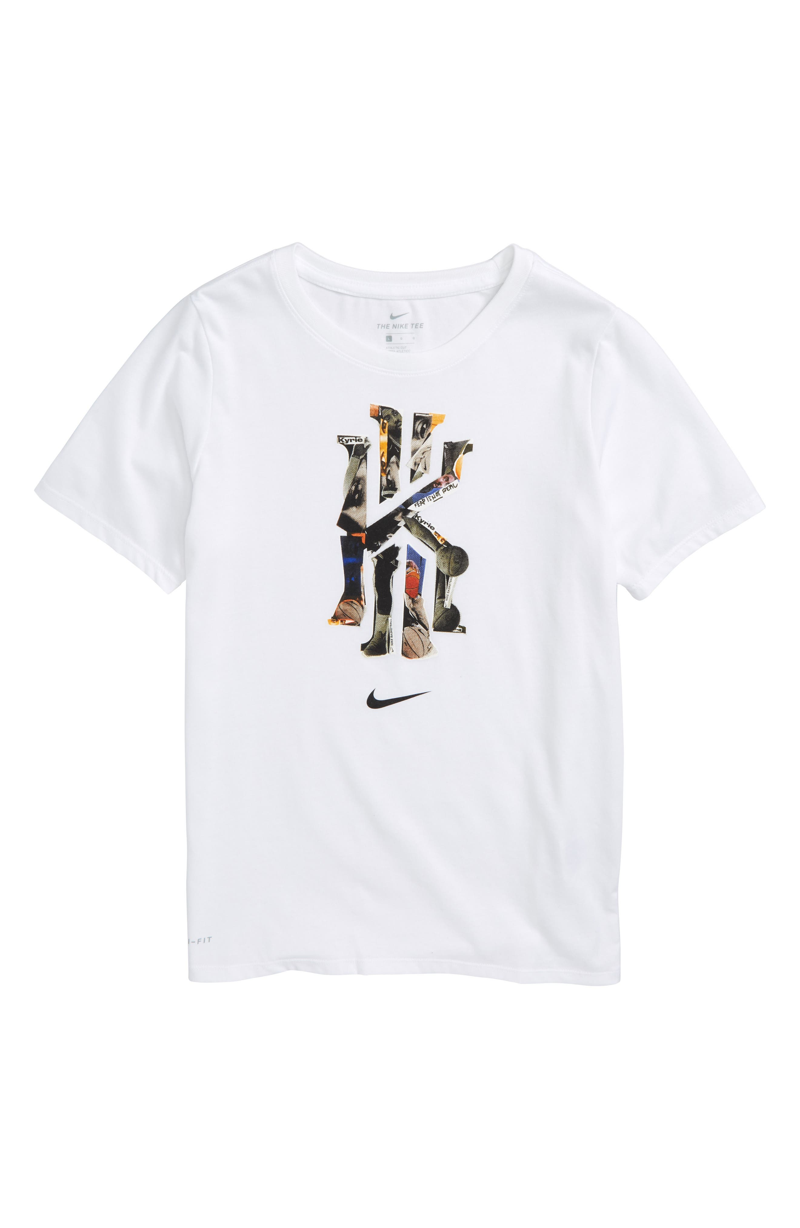 Dry Kyrie Graphic T-Shirt,                         Main,                         color, White