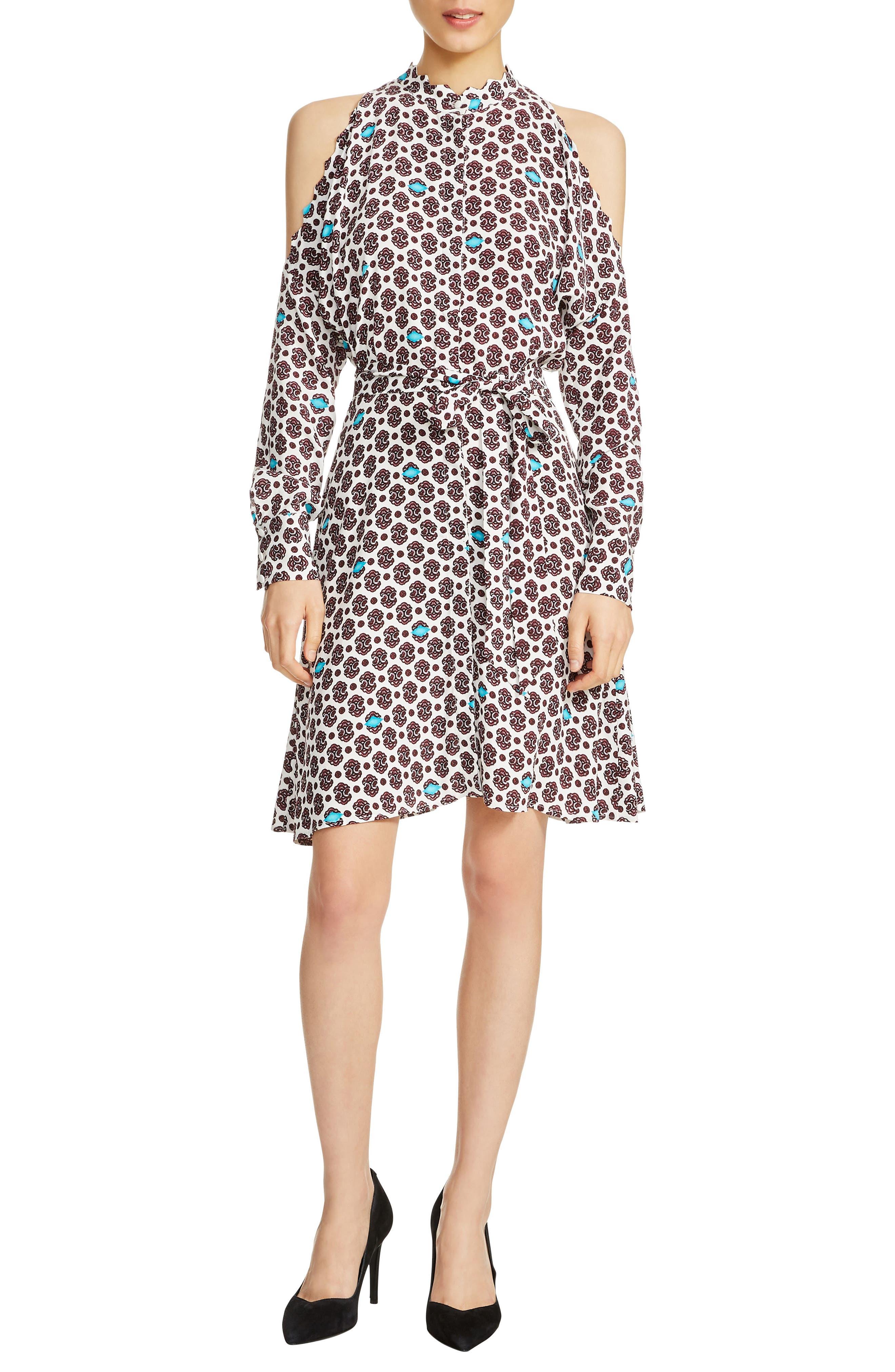 Ralinka Cold Shoulder Print Dress,                             Main thumbnail 1, color,                             Printed