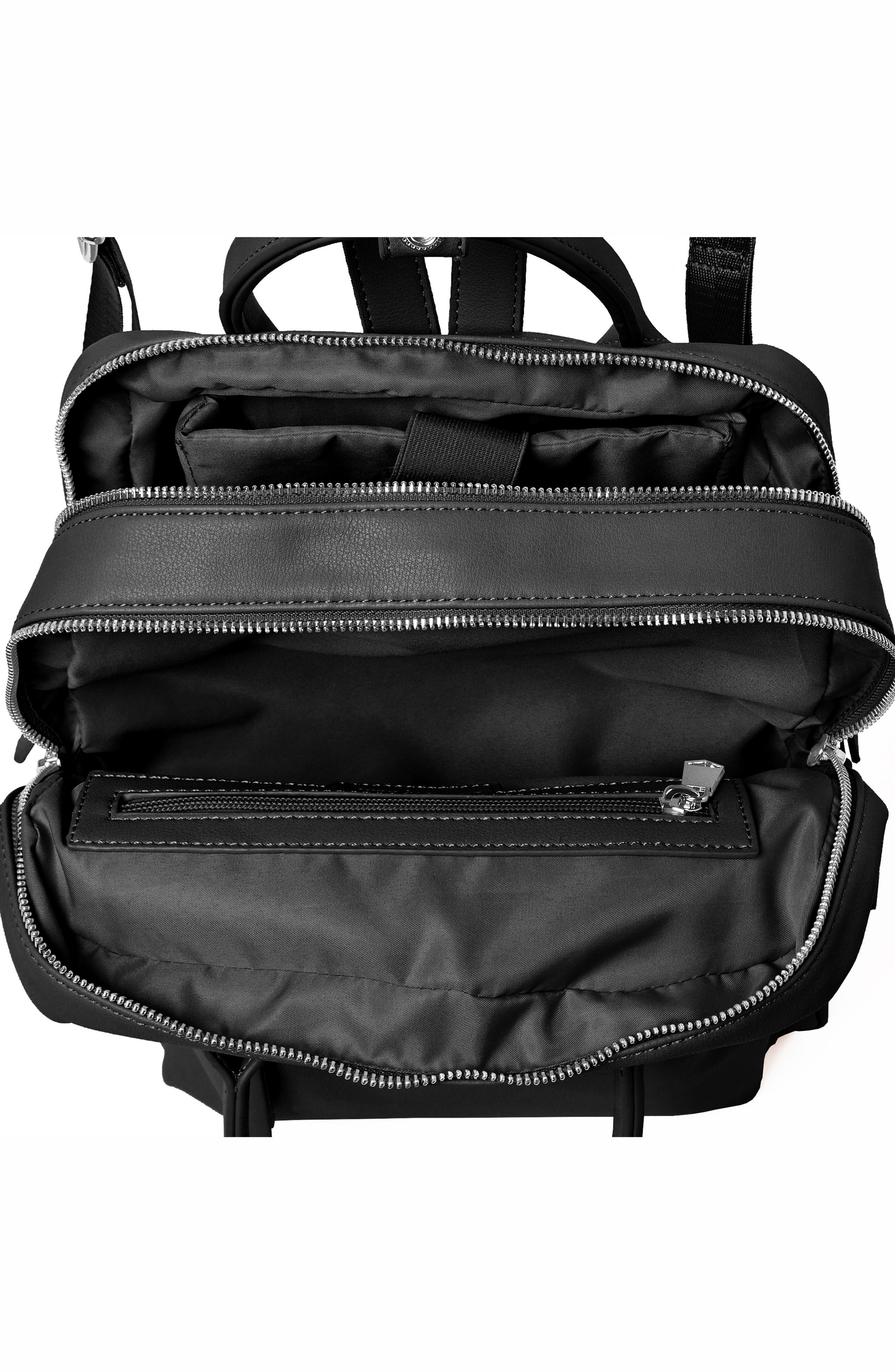 Over Exposure Vegan Leather Backpack,                             Alternate thumbnail 3, color,                             Black
