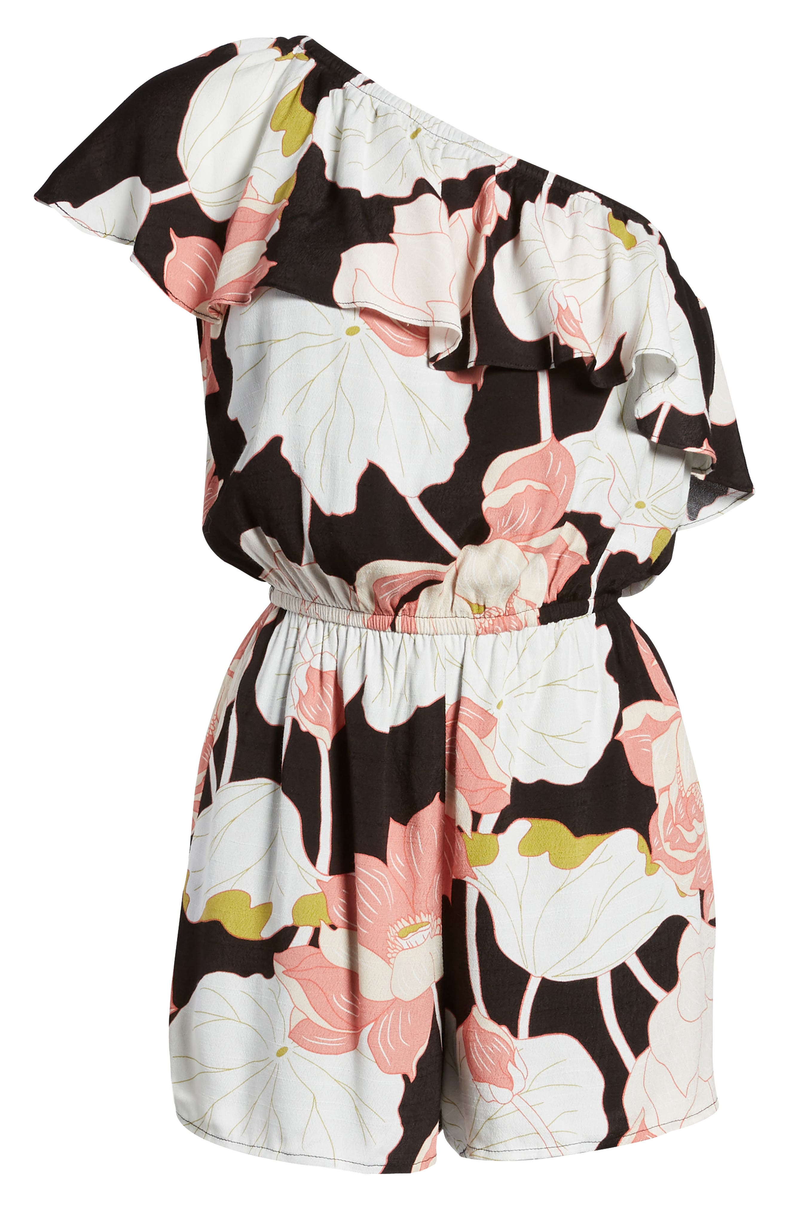 Alternate Image 6  - cupcakes and cashmere Arnett Water Lilies One-Shoulder Romper